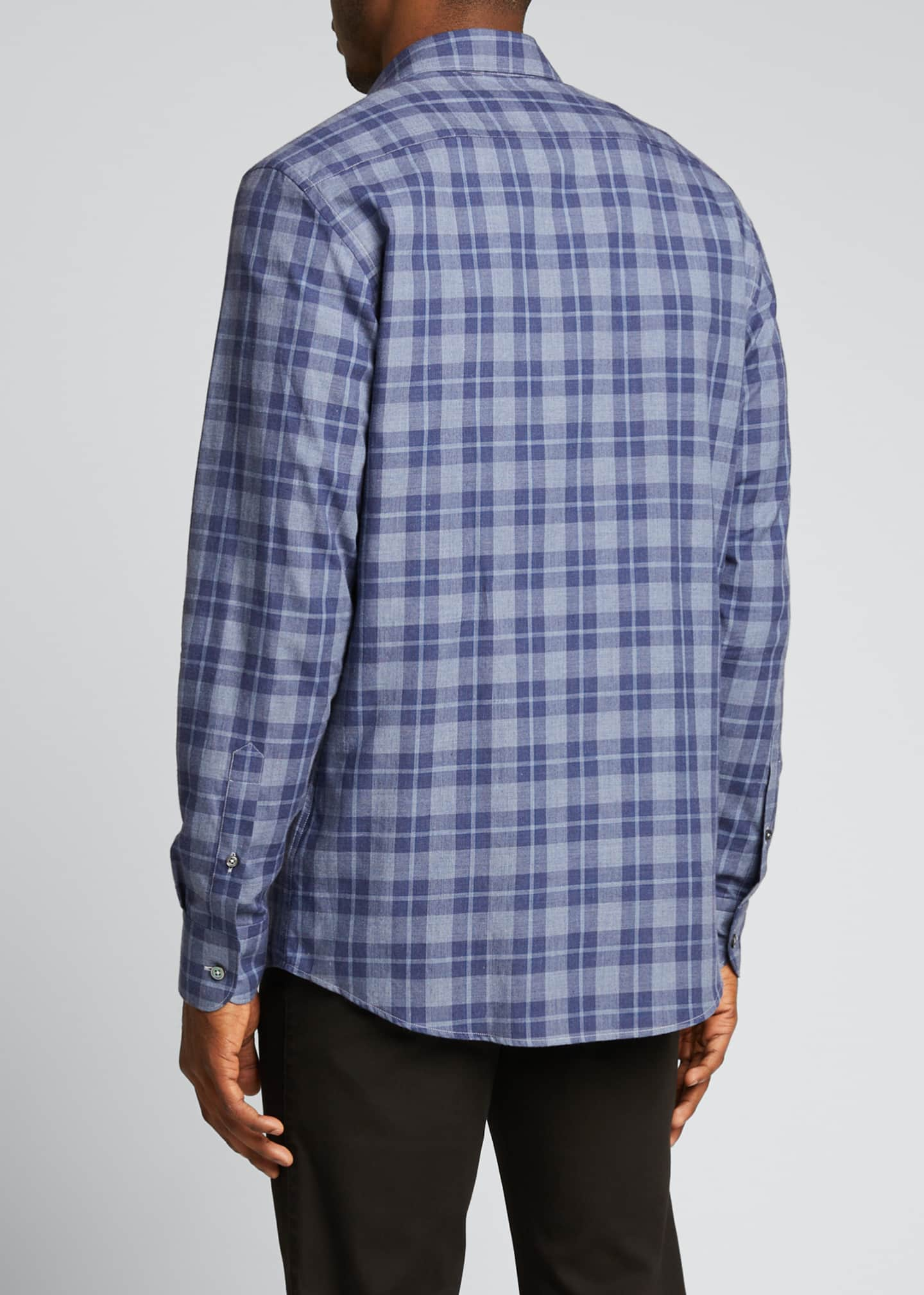 Image 2 of 5: Men's Macro-Check Sport Shirt