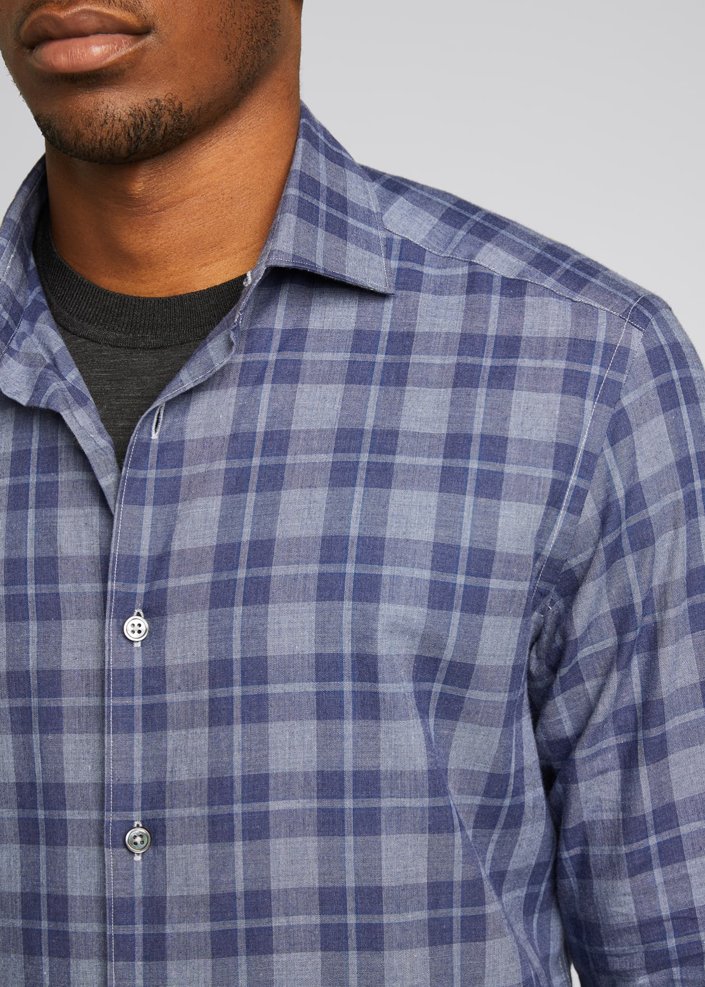 Image 4 of 5: Men's Macro-Check Sport Shirt