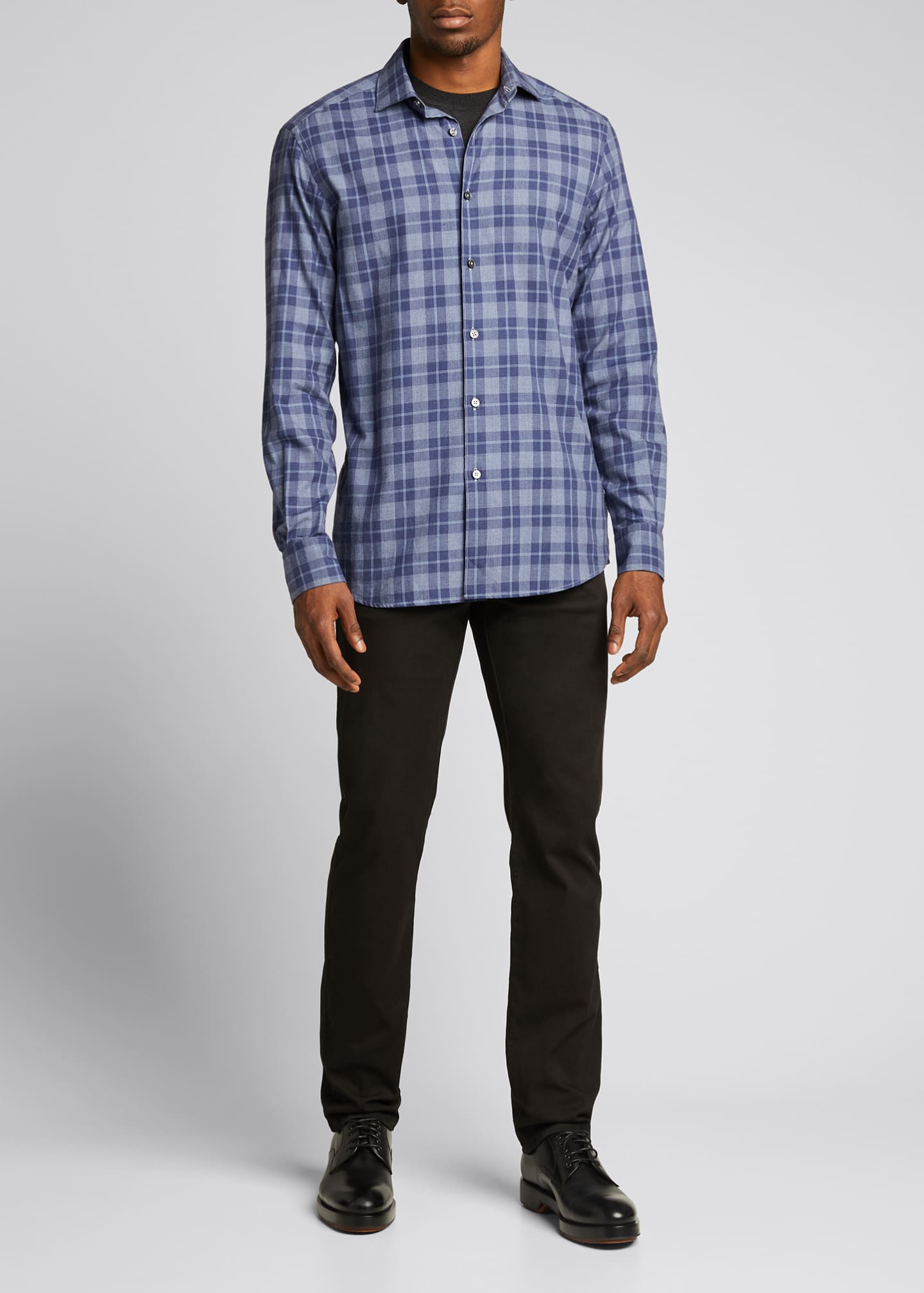 Image 1 of 5: Men's Macro-Check Sport Shirt