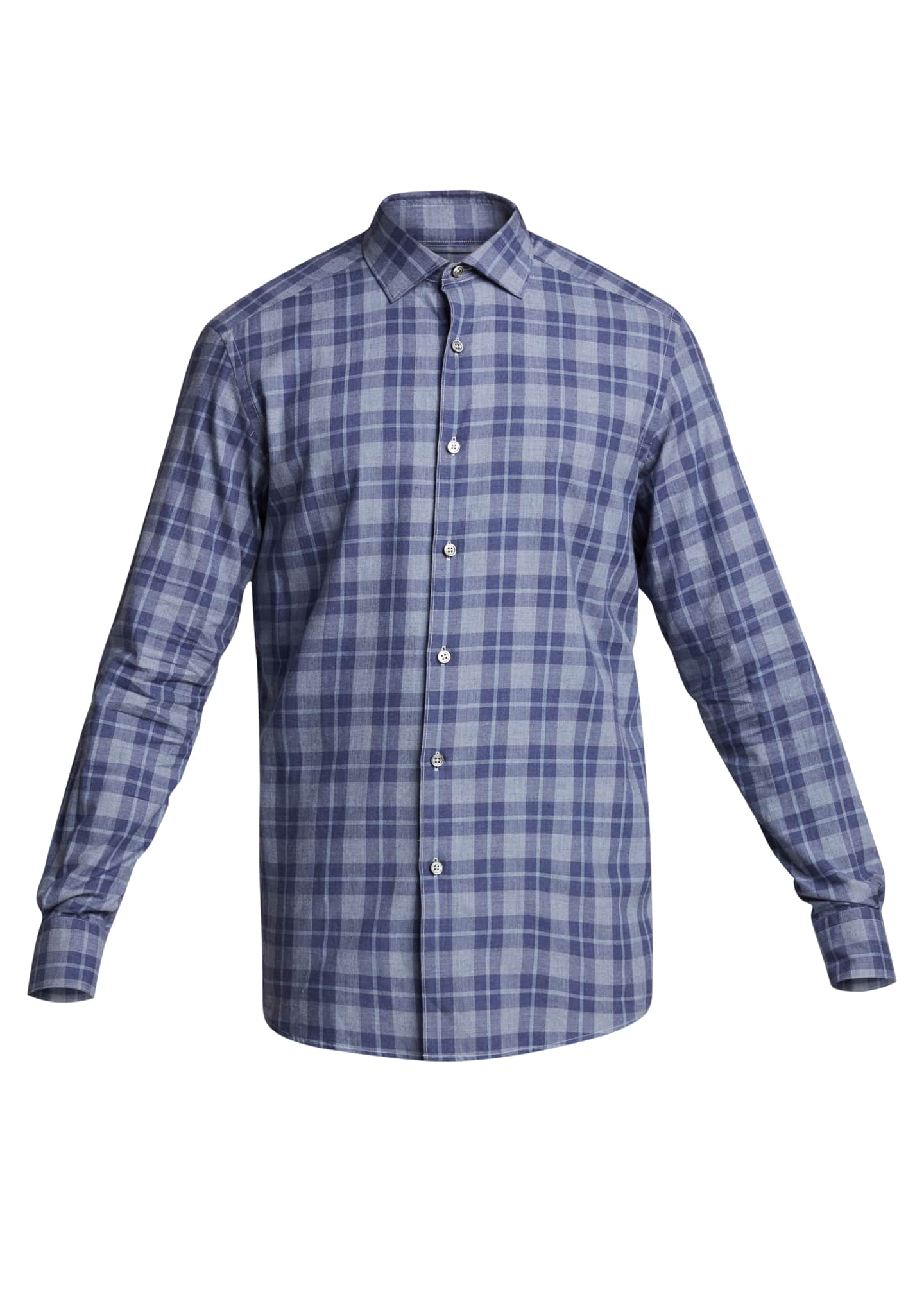 Image 5 of 5: Men's Macro-Check Sport Shirt