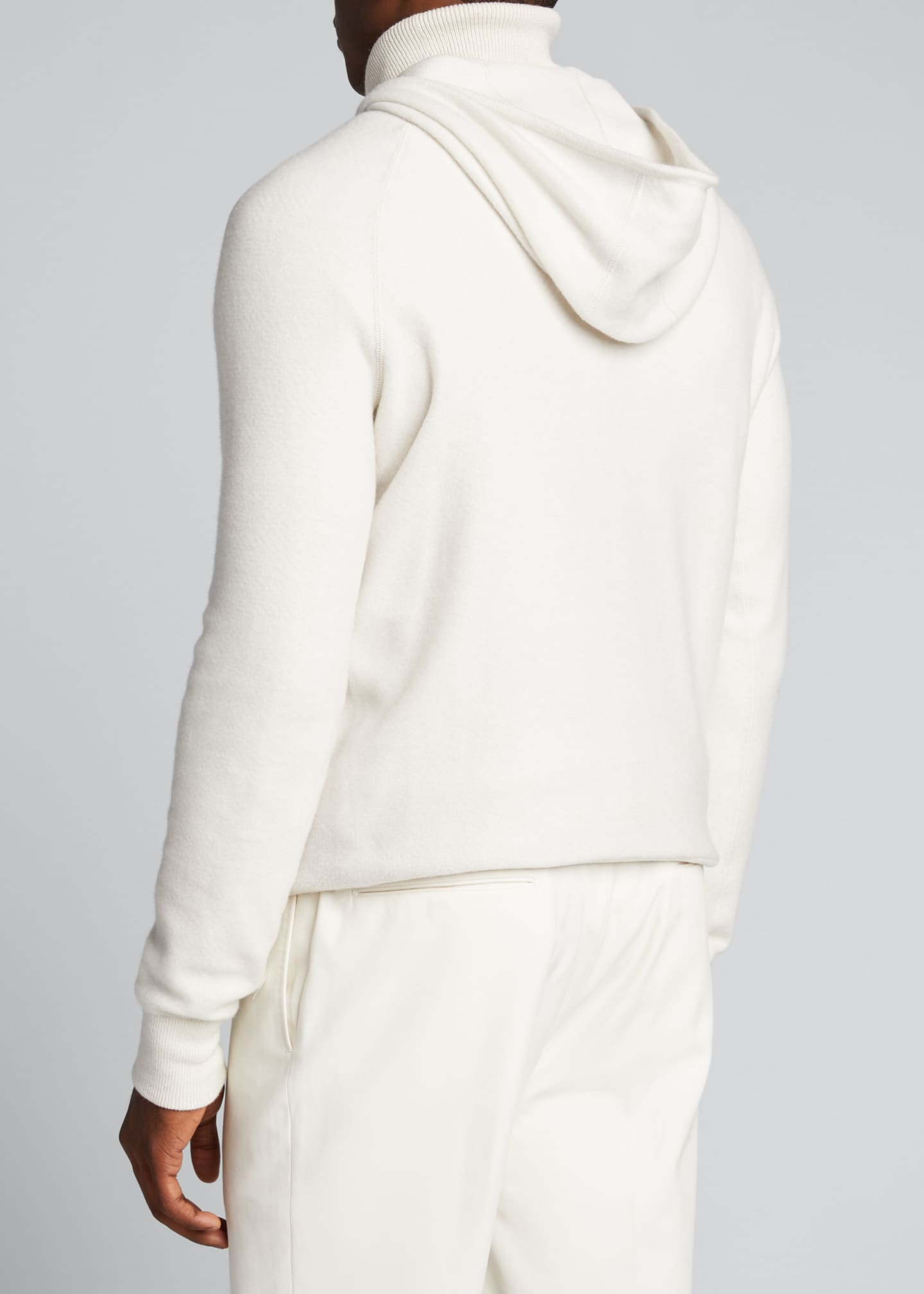 Image 2 of 5: Men's Solid Cashmere Hoodie Sweater