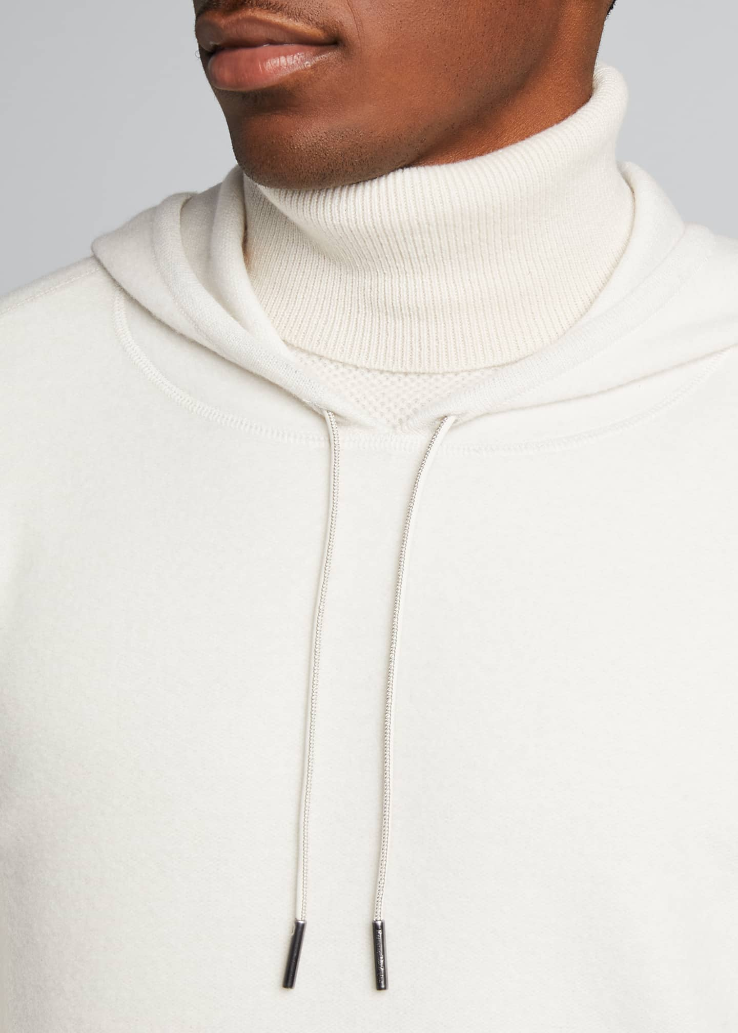 Image 4 of 5: Men's Solid Cashmere Hoodie Sweater