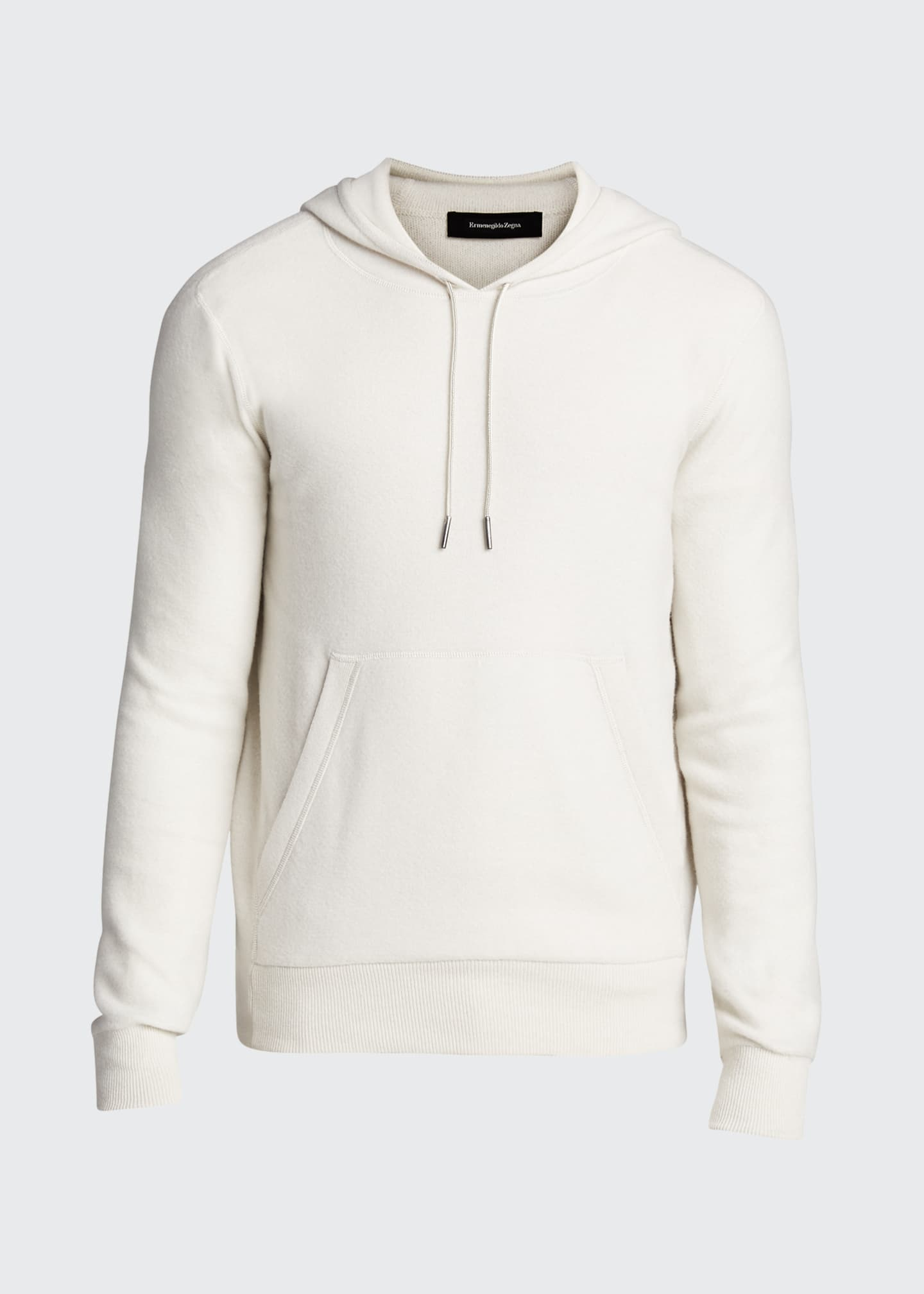 Image 5 of 5: Men's Solid Cashmere Hoodie Sweater