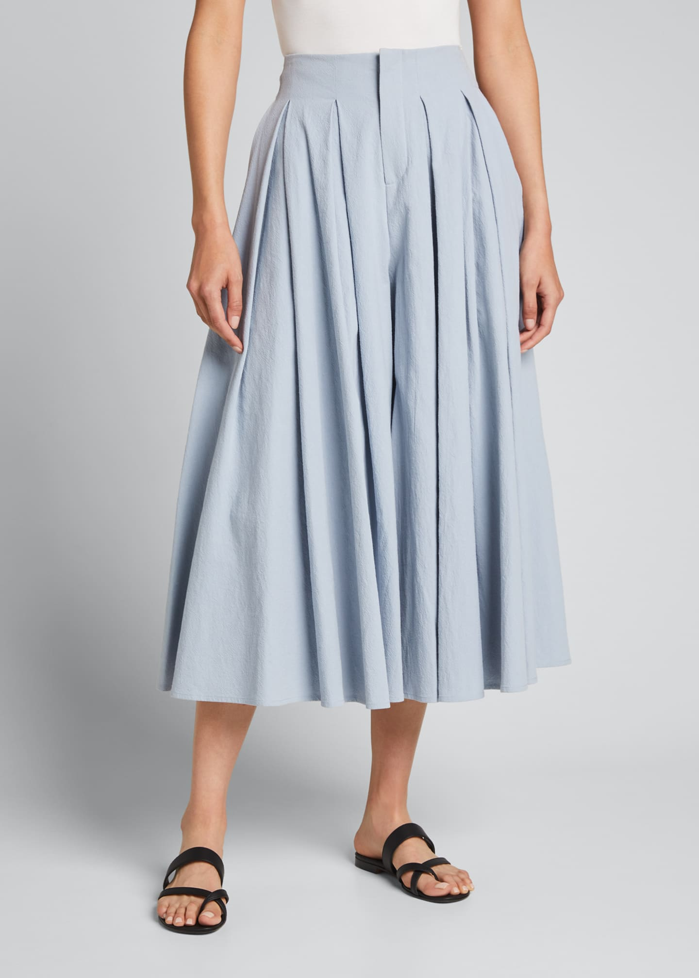 Image 3 of 5: Cordella Pleated Culotte Pants