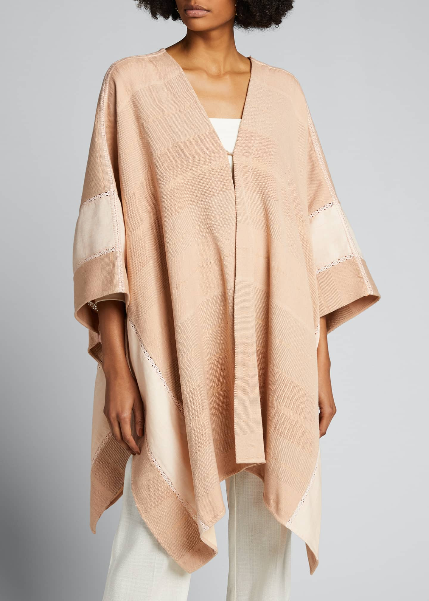 Image 3 of 5: Valeria Pedal Loomed Poncho