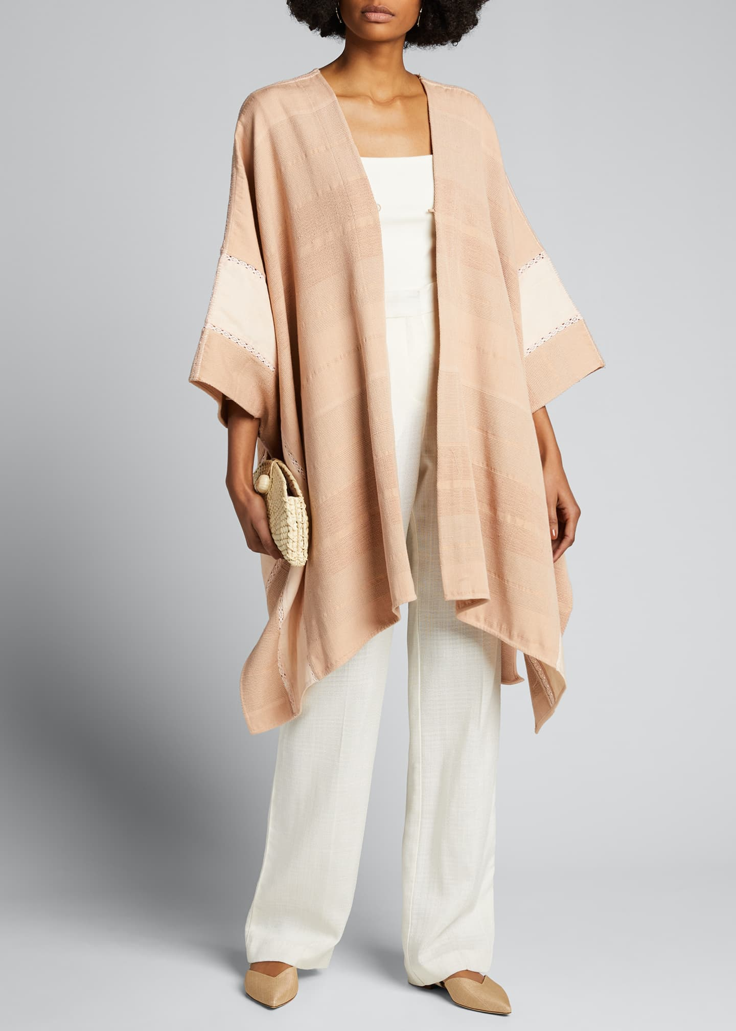 Image 1 of 5: Valeria Pedal Loomed Poncho