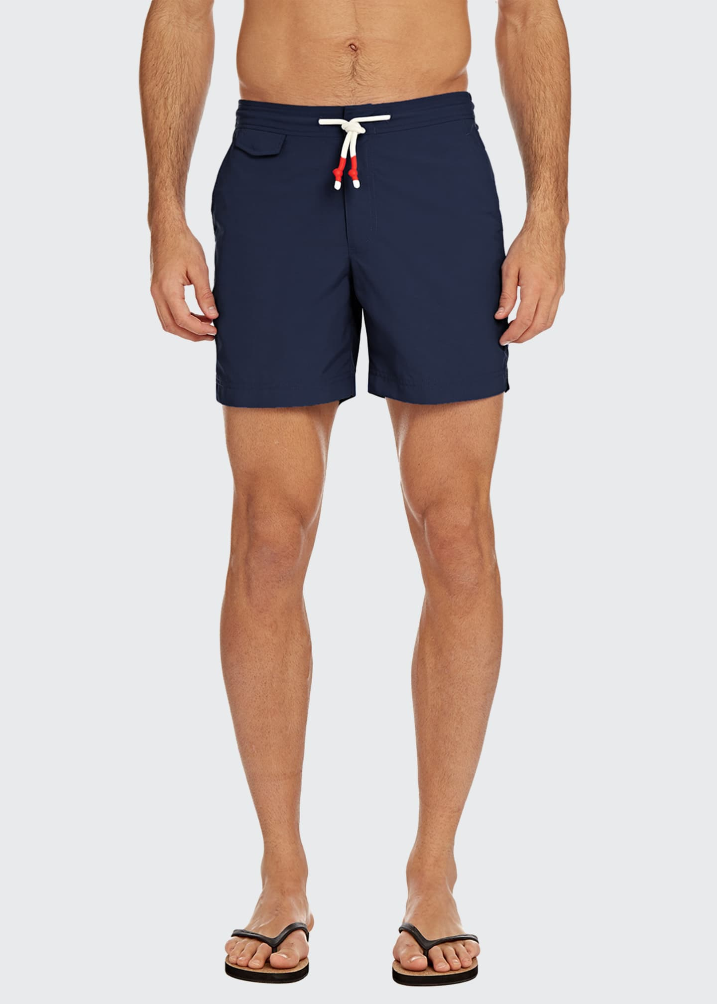 Image 1 of 3: Men's Bulldog Standard Mid-Length Drawstring Swim Trunks