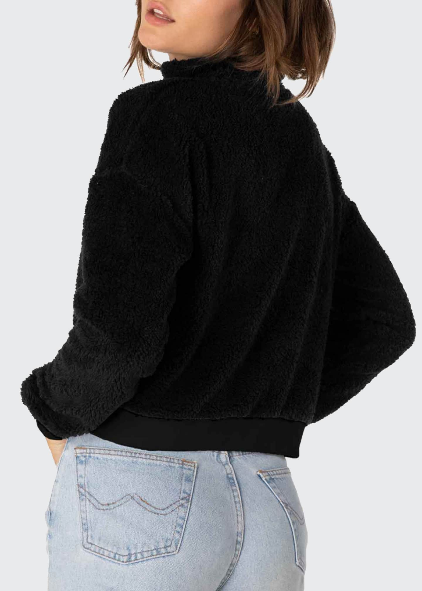 Image 2 of 4: Cropped Sherpa Pullover