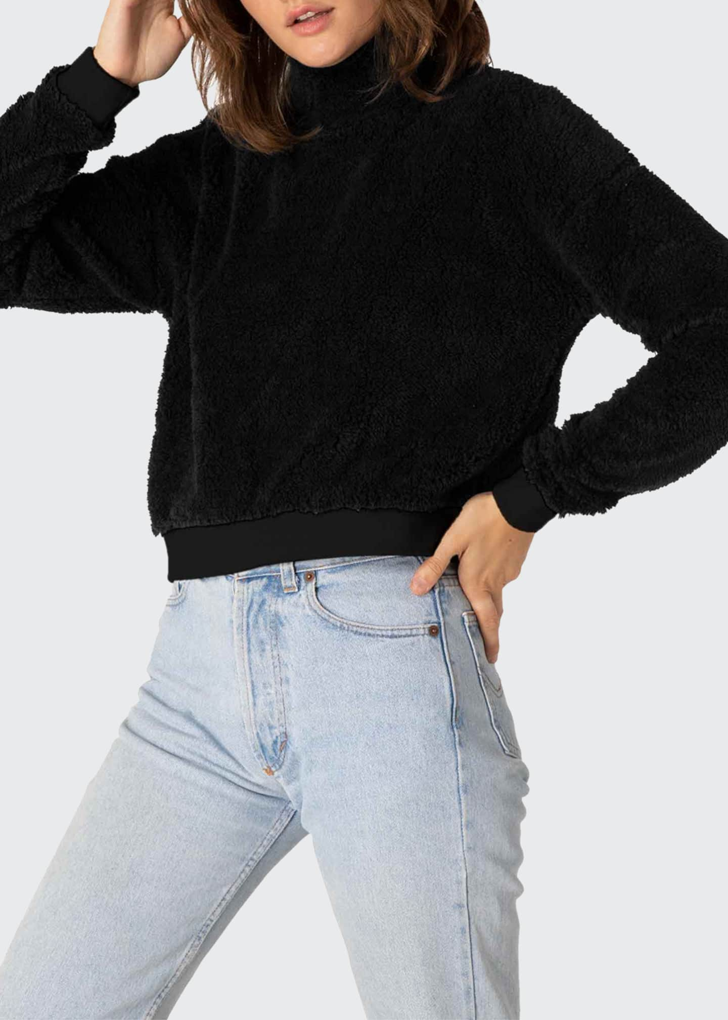Image 4 of 4: Cropped Sherpa Pullover