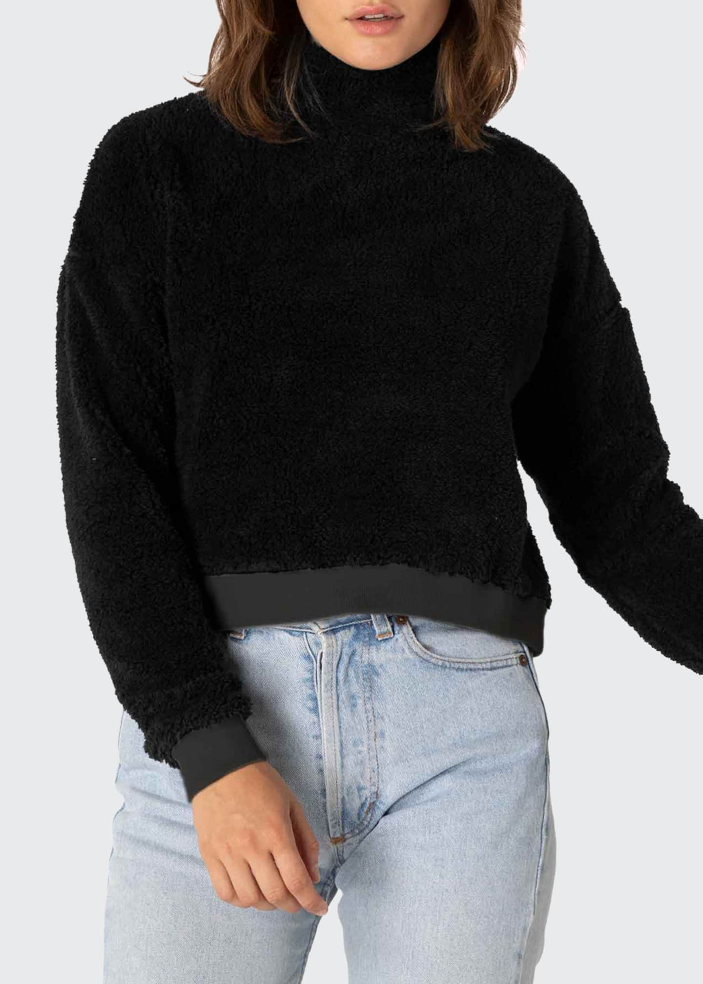 Image 1 of 4: Cropped Sherpa Pullover