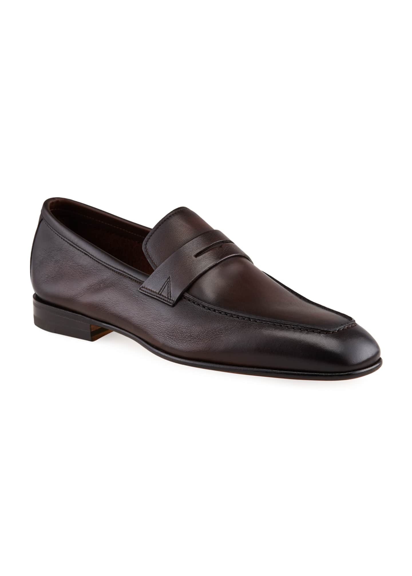 Image 2 of 4: Men's Imam Soft Burnished Leather Penny Loafers