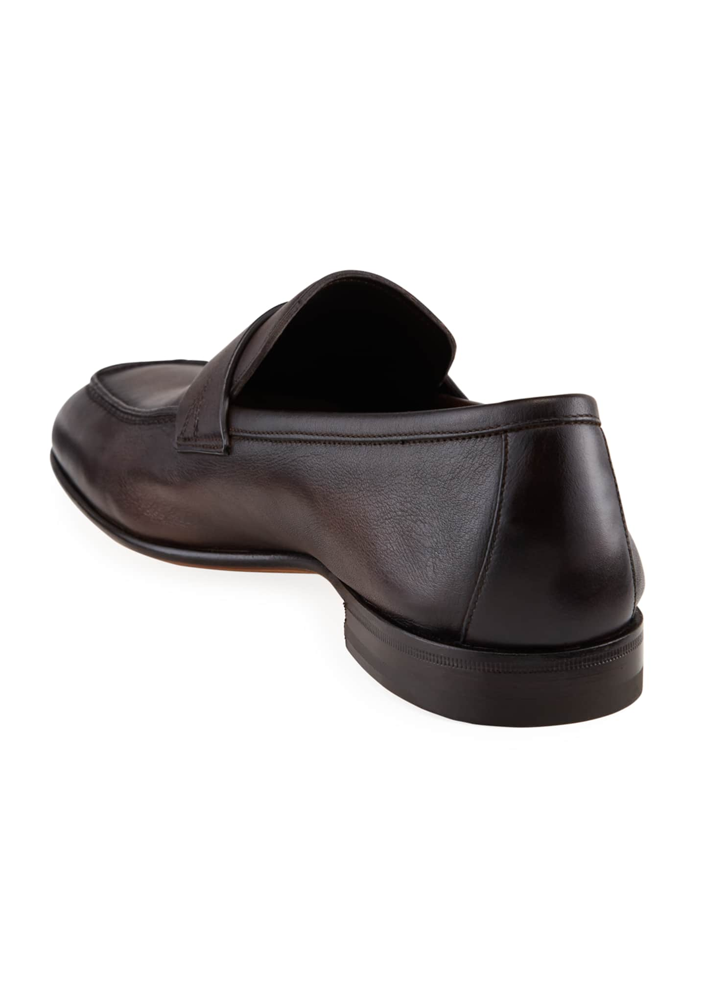 Image 4 of 4: Men's Imam Soft Burnished Leather Penny Loafers