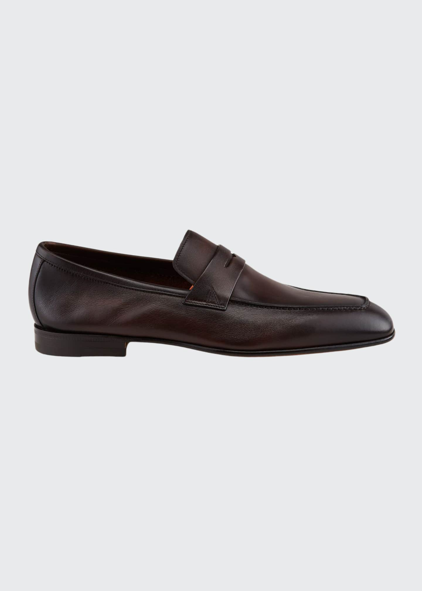 Image 1 of 4: Men's Imam Soft Burnished Leather Penny Loafers