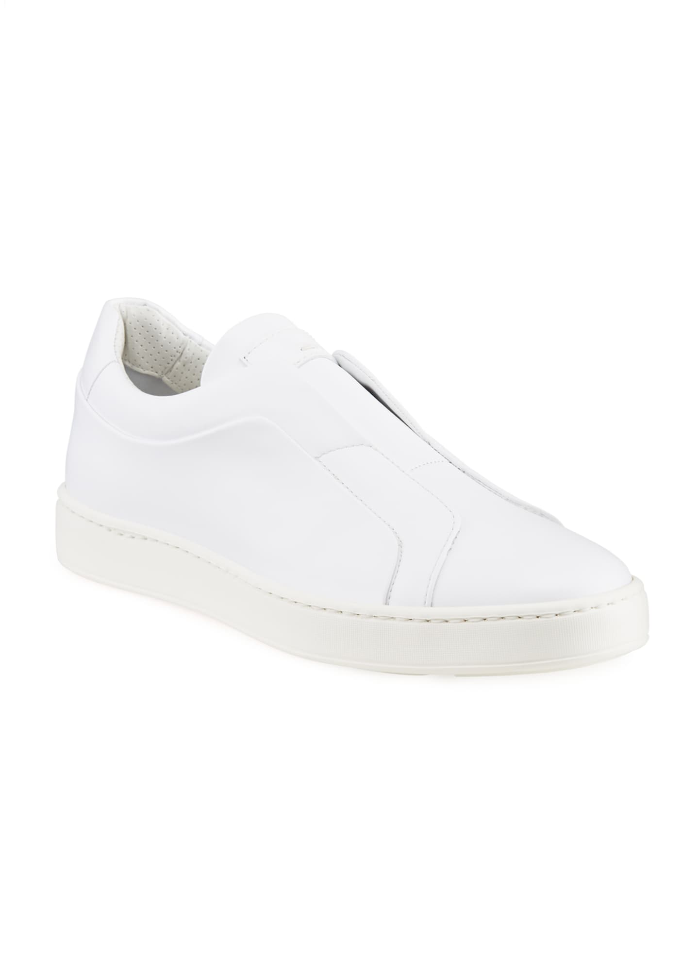 Image 2 of 4: Men's Pass Soft Leather Slip-On Sneakers