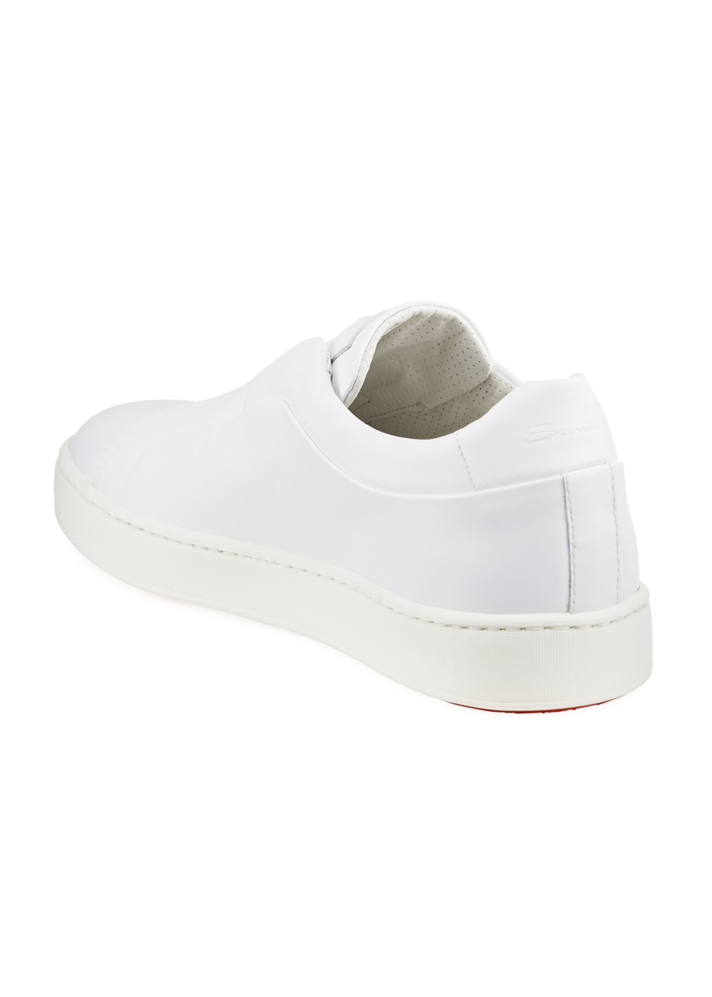 Image 4 of 4: Men's Pass Soft Leather Slip-On Sneakers