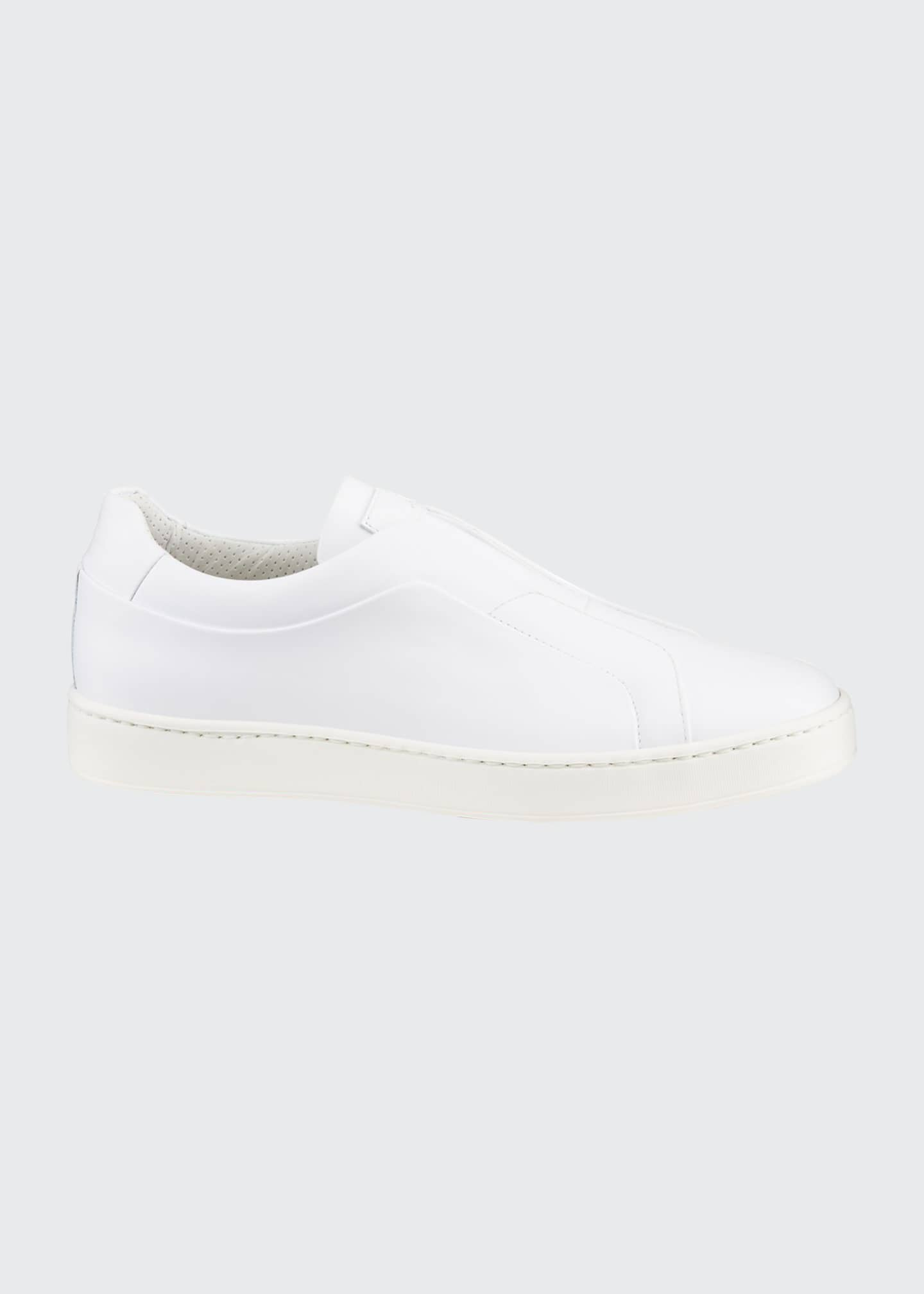 Image 1 of 4: Men's Pass Soft Leather Slip-On Sneakers
