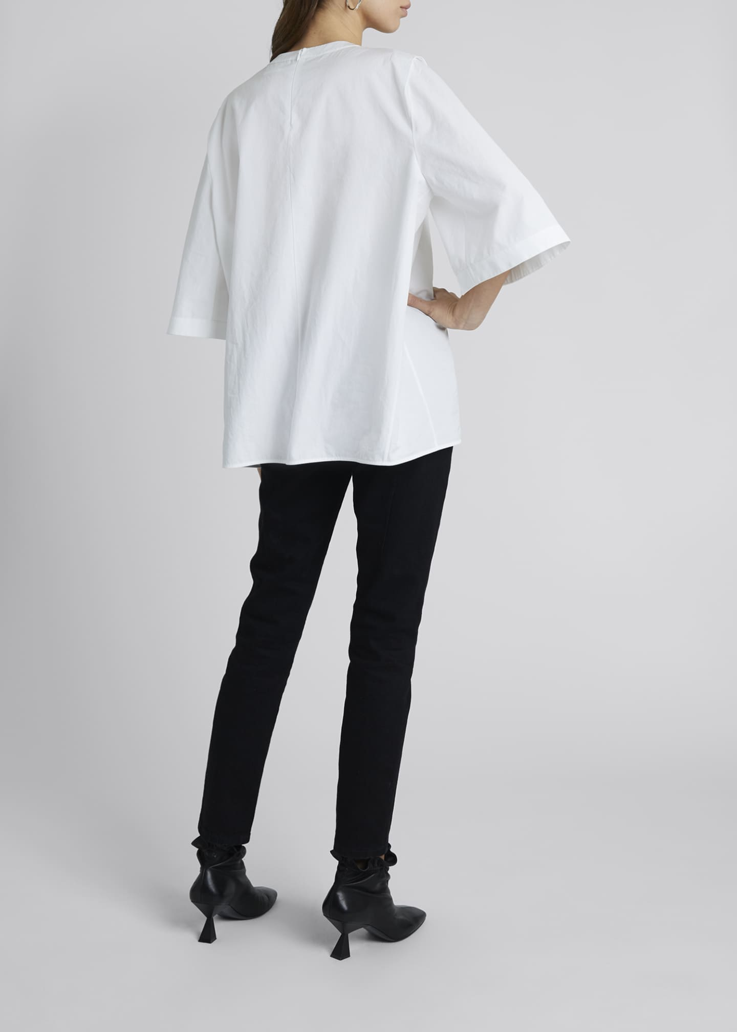 Image 2 of 4: Chain-Neck Poplin Tunic