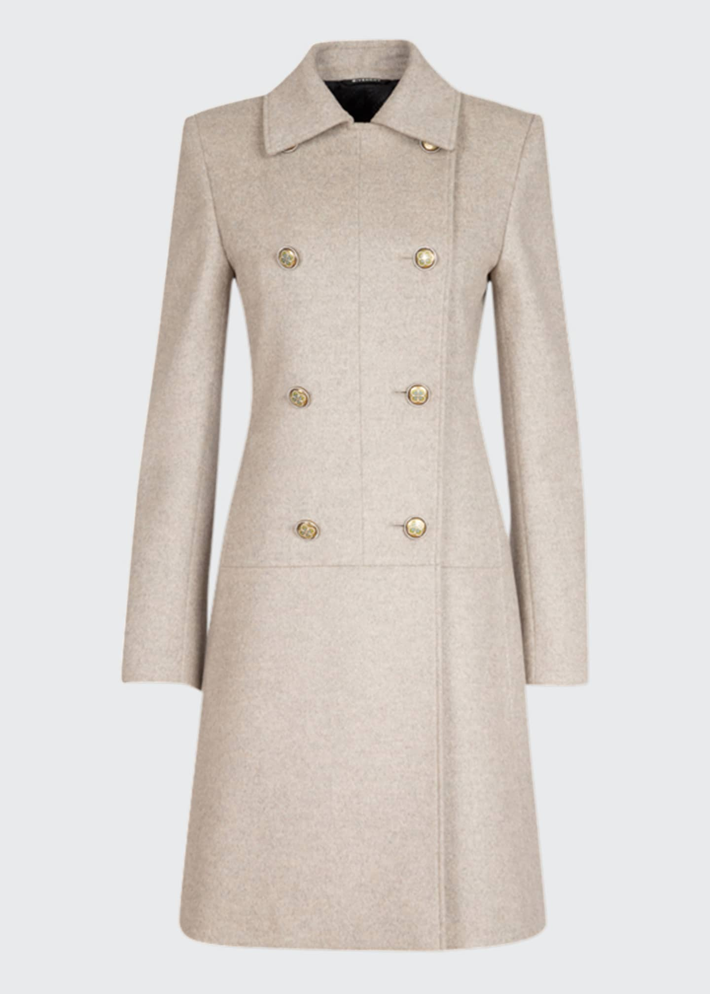 Image 1 of 1: Wool-Cashmere Coat With Iris Buttons