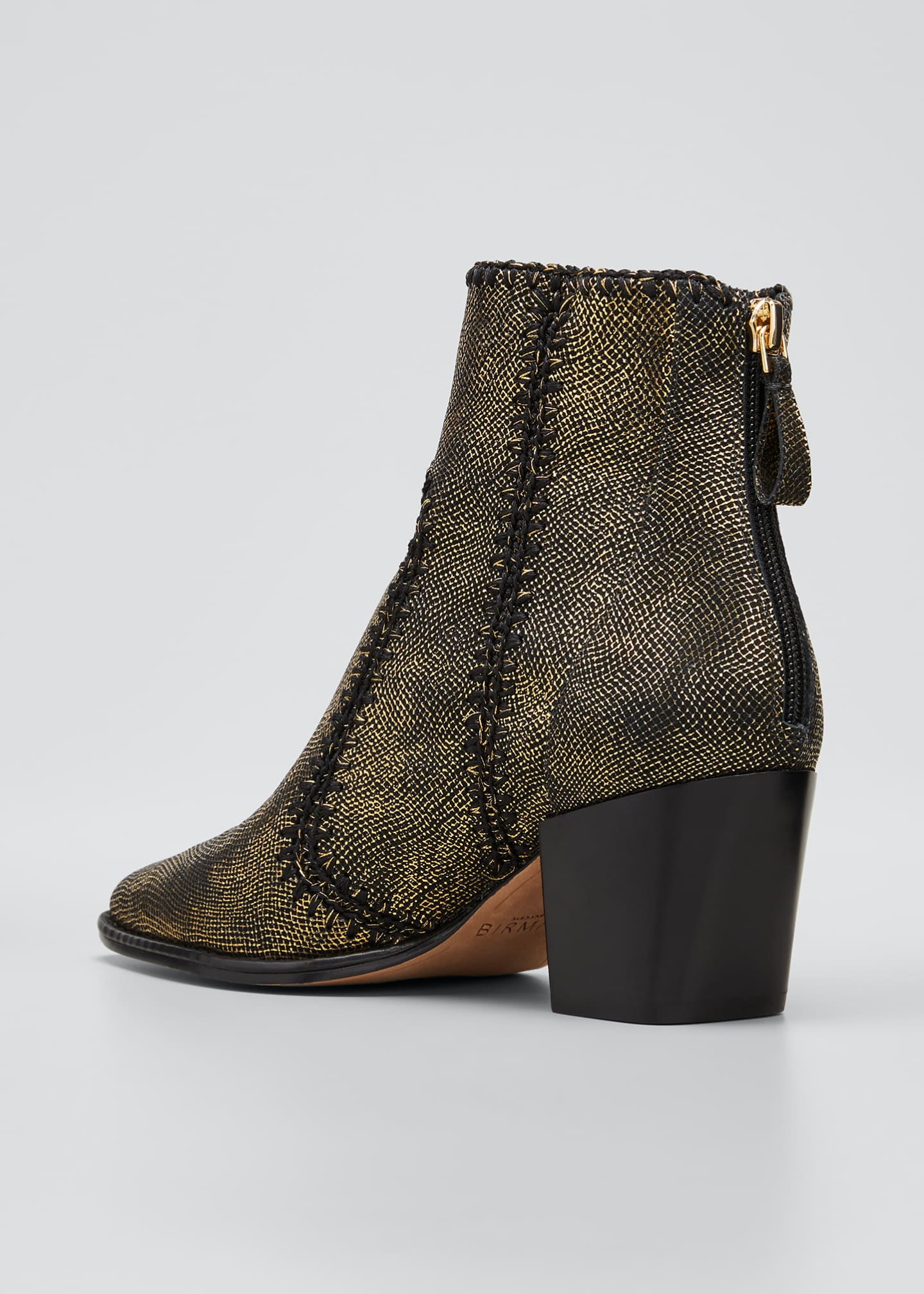 Image 2 of 3: Benta Metallic Ankle Zip Booties