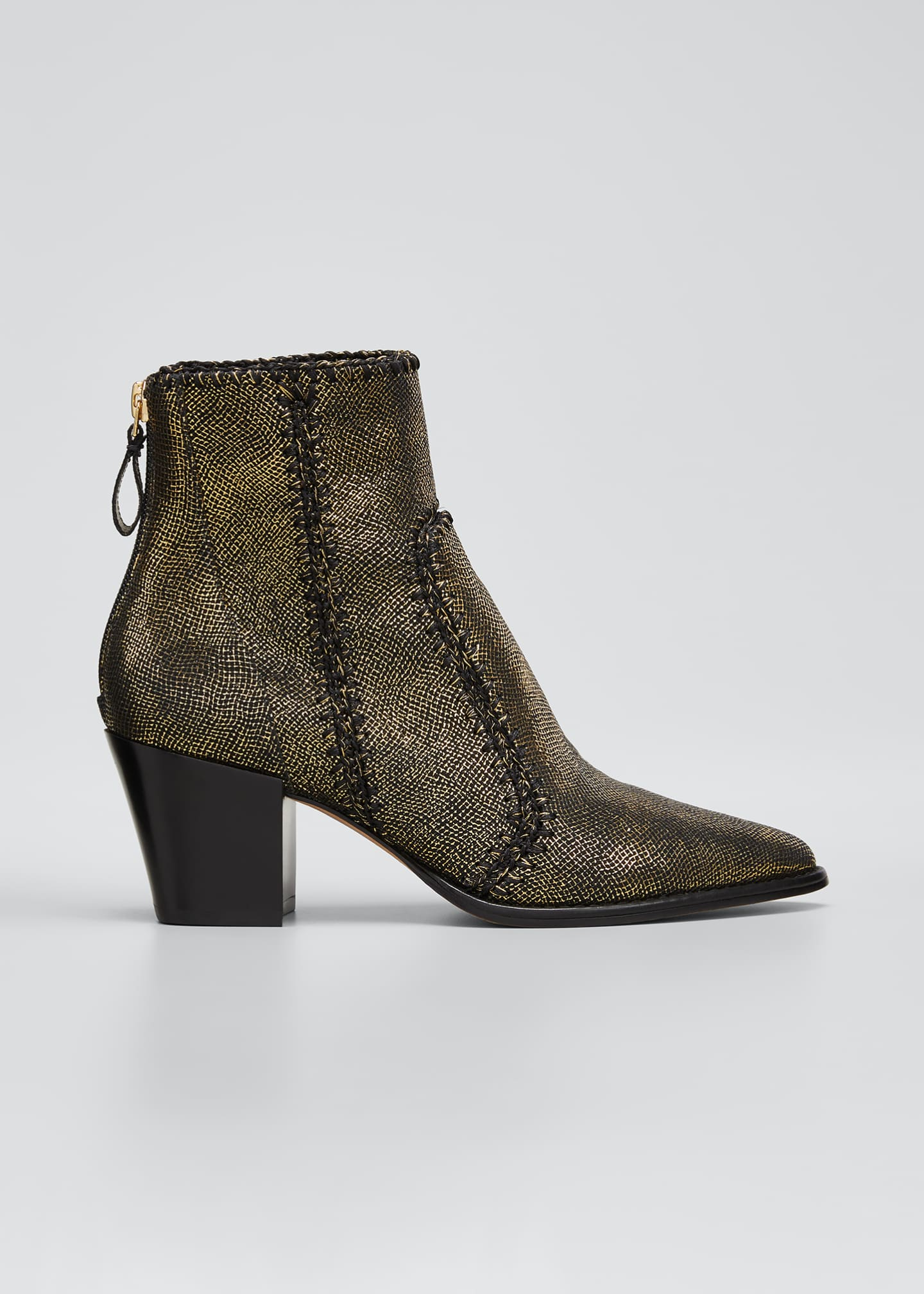 Image 1 of 3: Benta Metallic Ankle Zip Booties