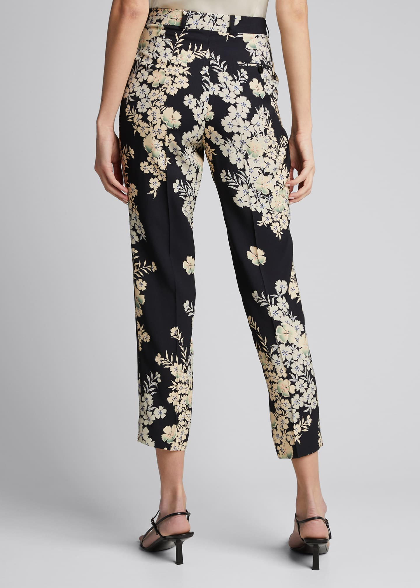 Image 2 of 5: Floating Flowers Printed Cady Trousers