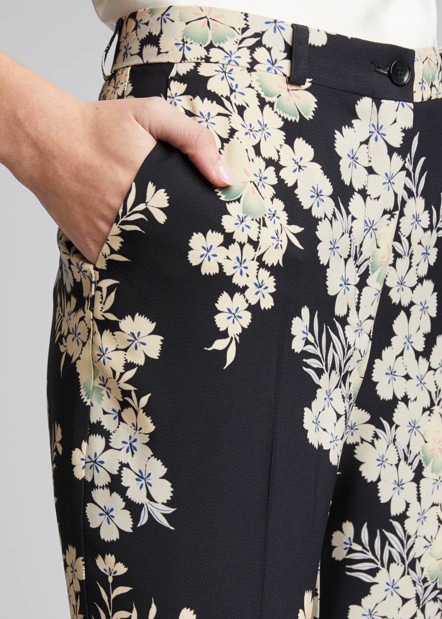 Image 4 of 5: Floating Flowers Printed Cady Trousers