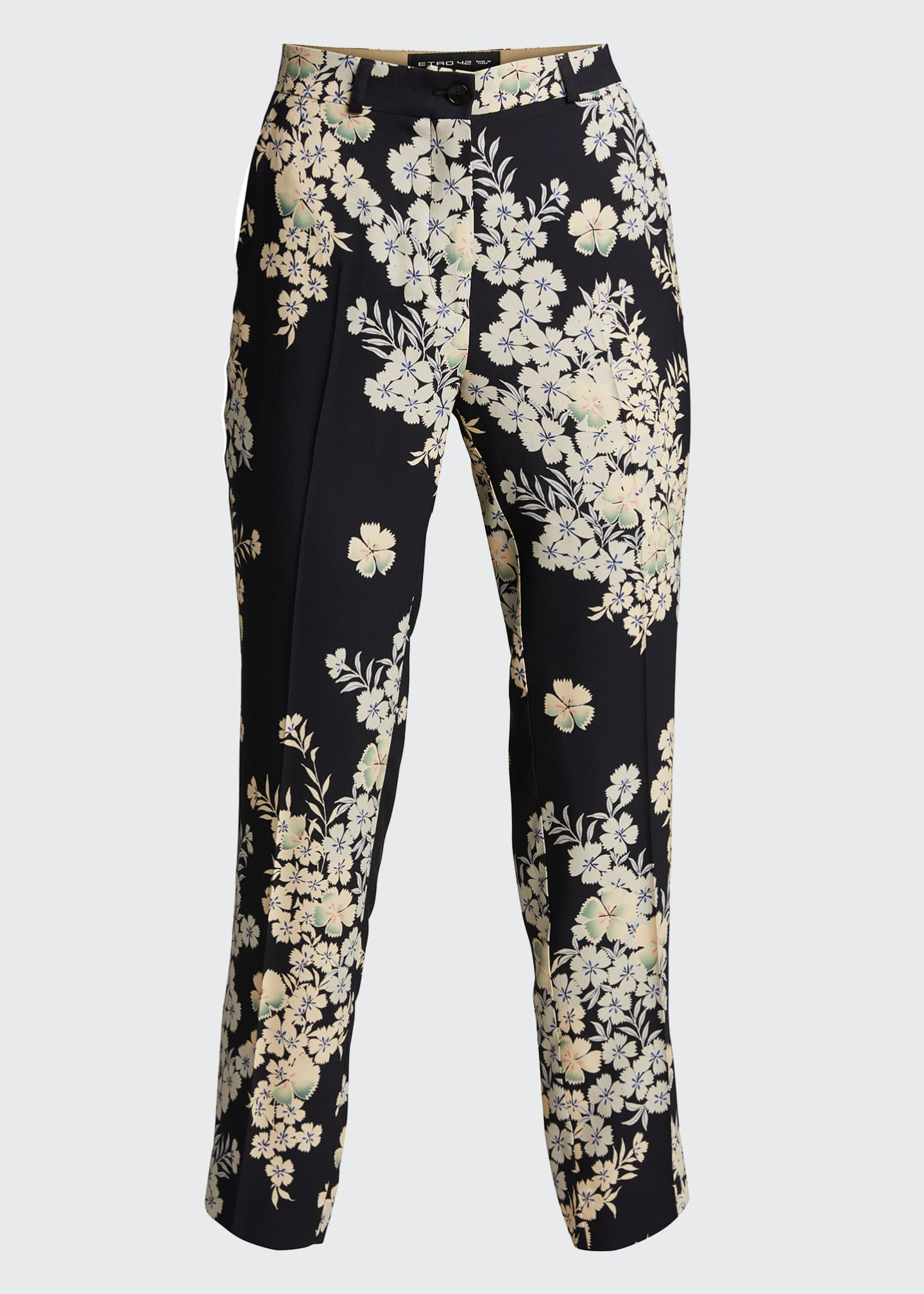 Image 5 of 5: Floating Flowers Printed Cady Trousers