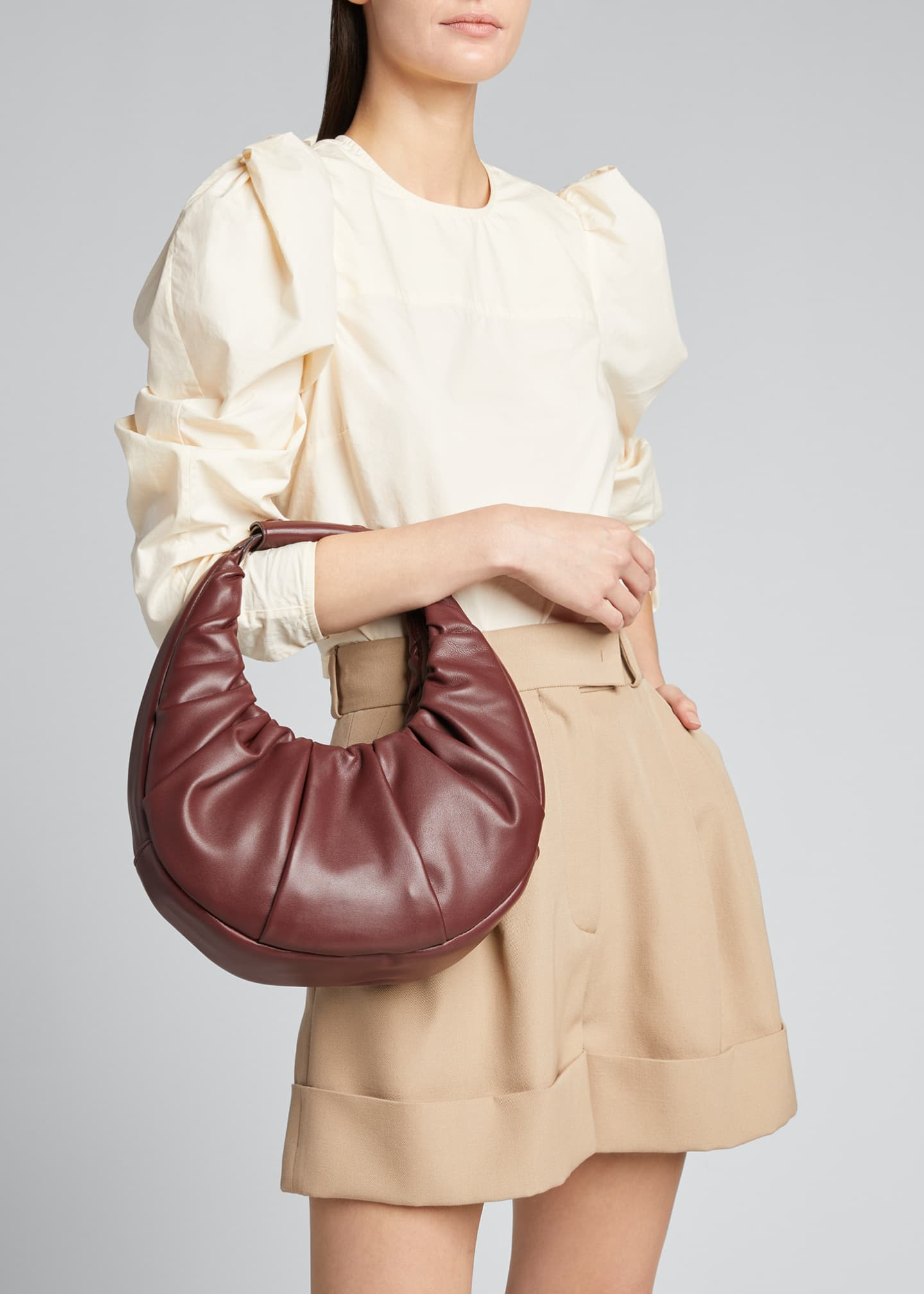 Image 2 of 5: Soft Pleated Moon Shoulder Bag