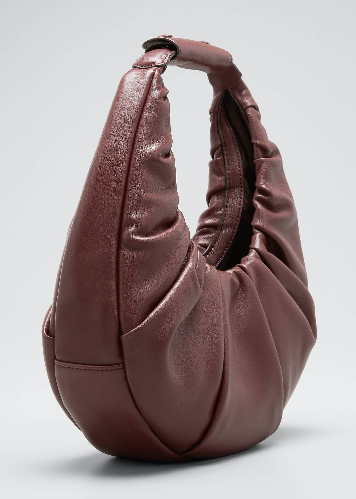 Image 3 of 5: Soft Pleated Moon Shoulder Bag