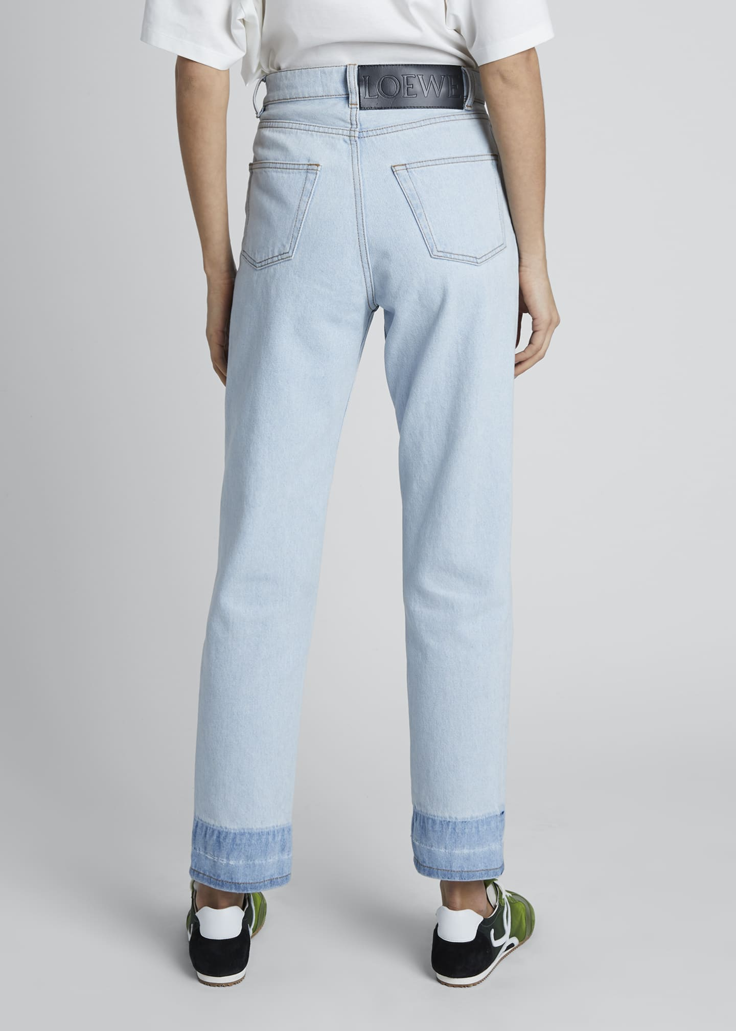 Image 2 of 4: High-Rise Straight-Leg Jeans