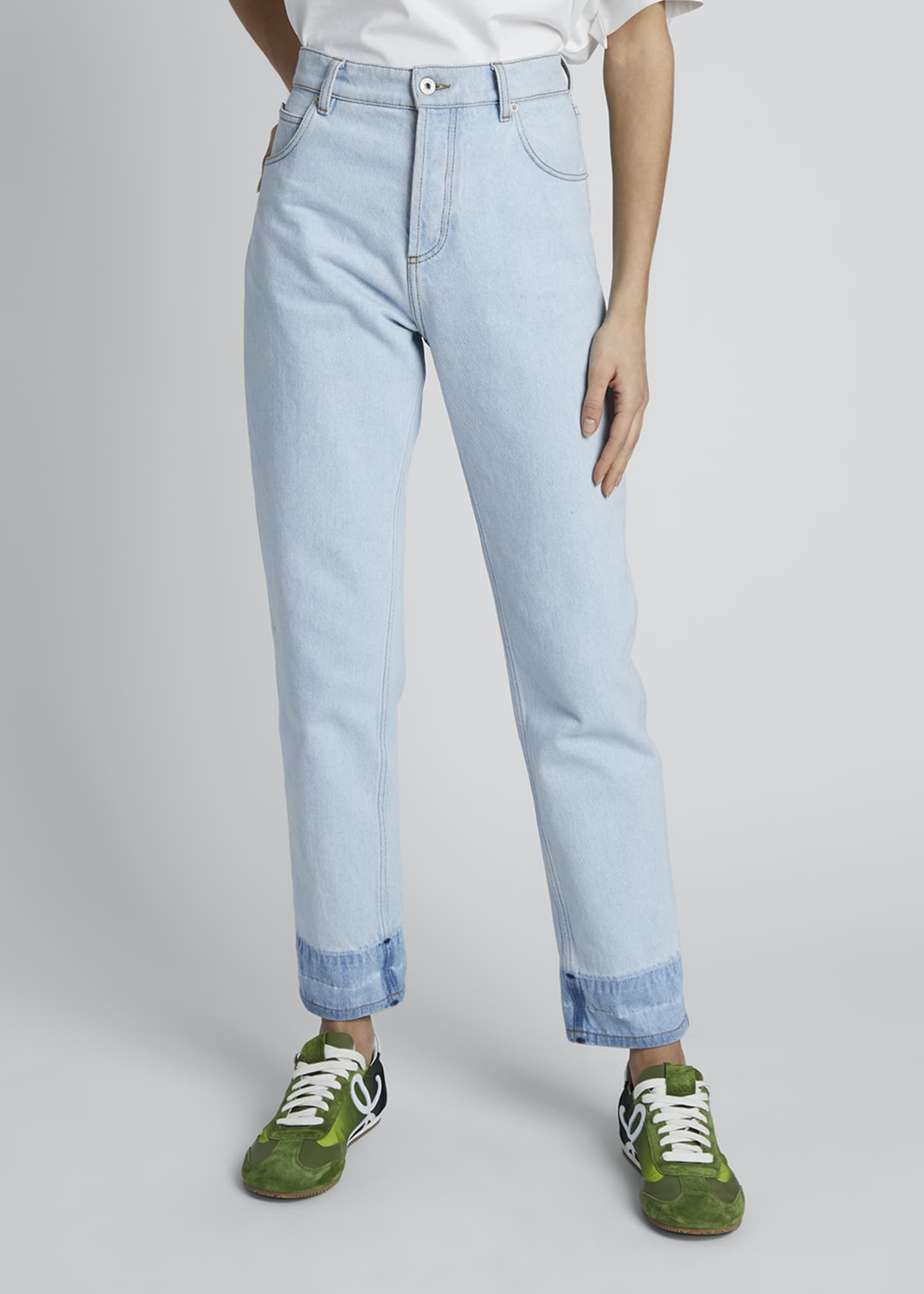 Image 3 of 4: High-Rise Straight-Leg Jeans
