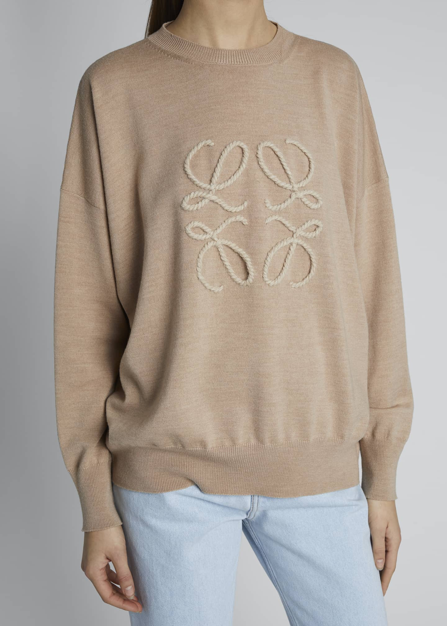 Image 4 of 4: Long-Sleeve Anagram Logo Sweater
