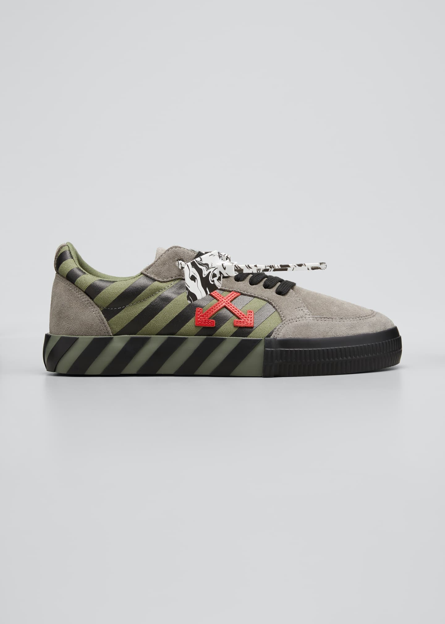 Image 1 of 3: Men's Arrow Striped Suede Vulcanized Sneakers