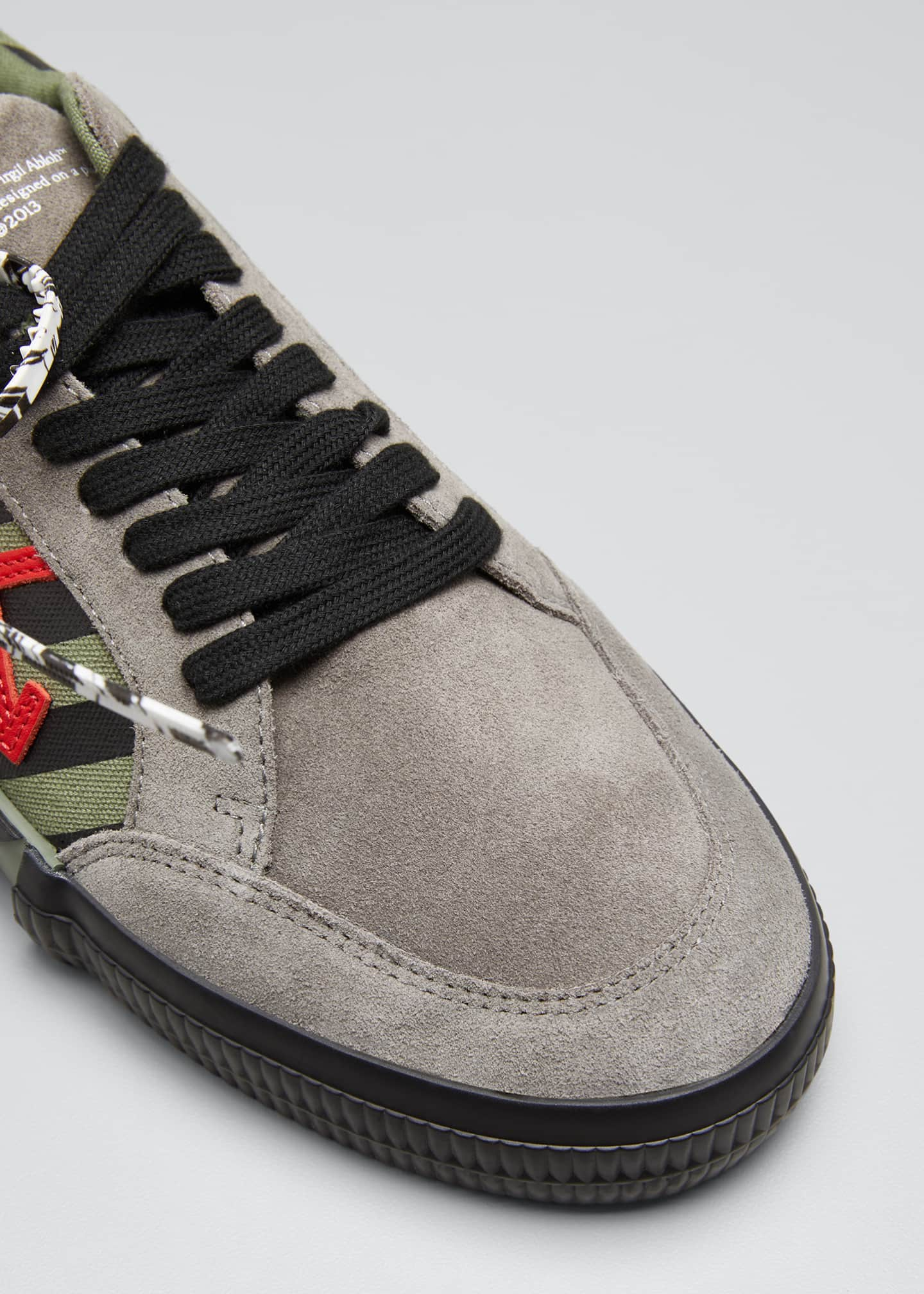 Image 3 of 3: Men's Arrow Striped Suede Vulcanized Sneakers