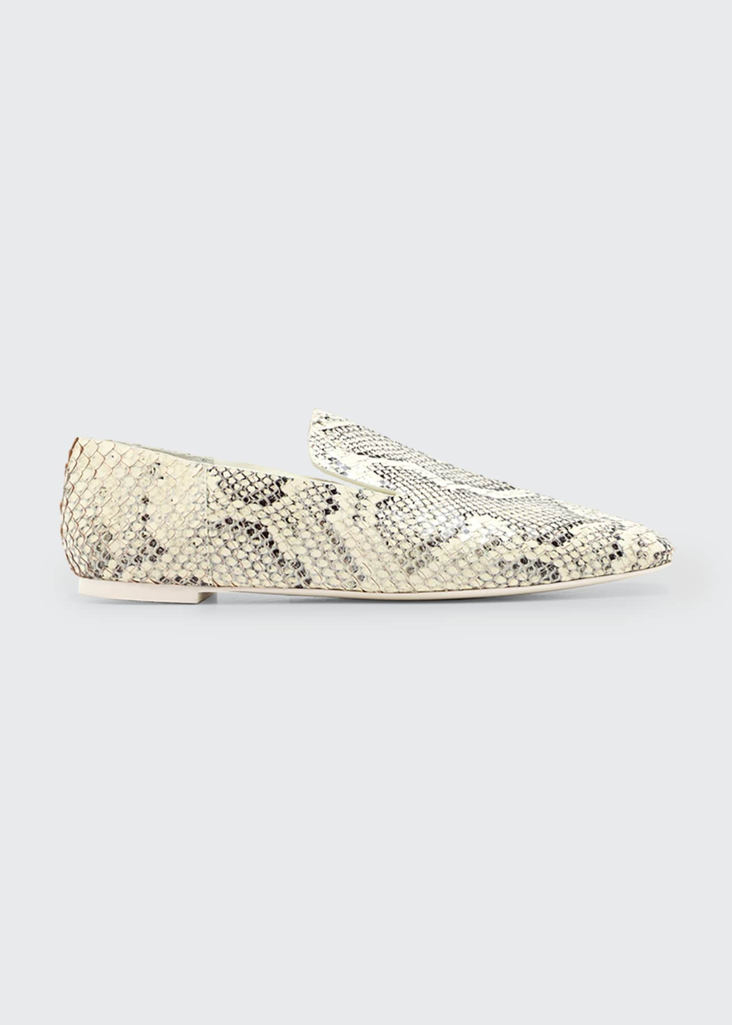 Image 1 of 2: Eugenie Mixed Print Flat Loafers