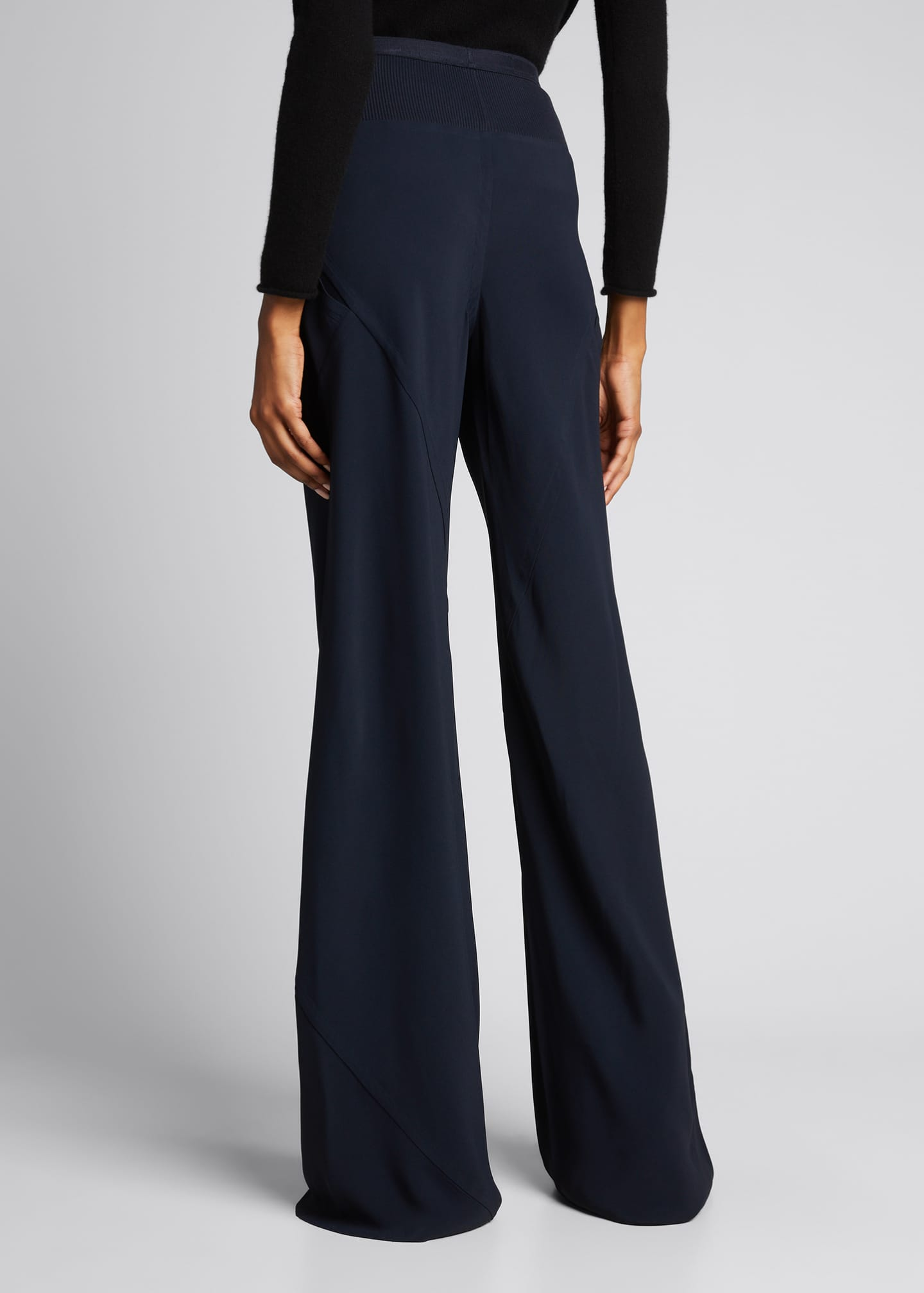 Image 2 of 5: Cady Wide-Leg Bias Pants