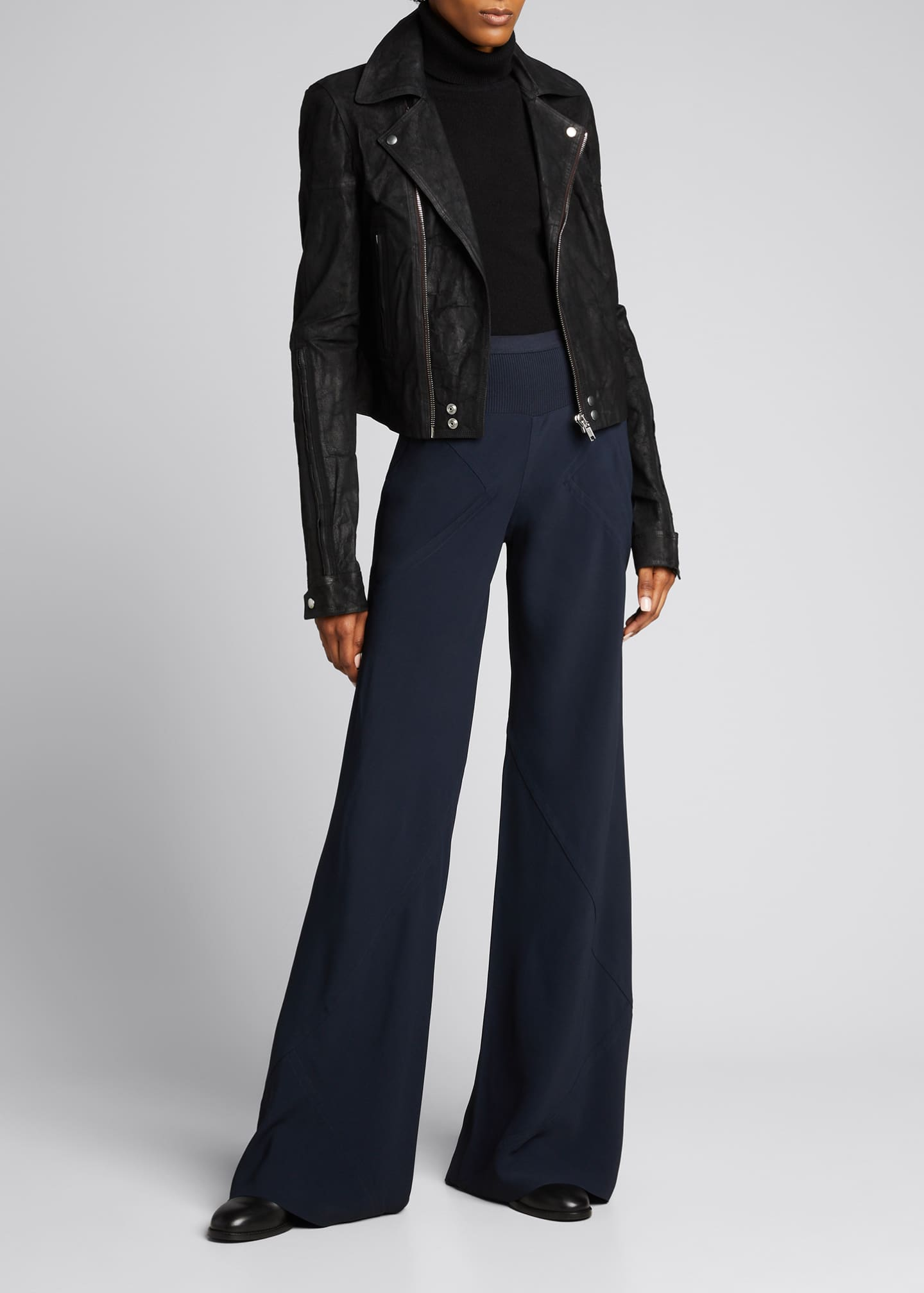 Image 1 of 5: Cady Wide-Leg Bias Pants