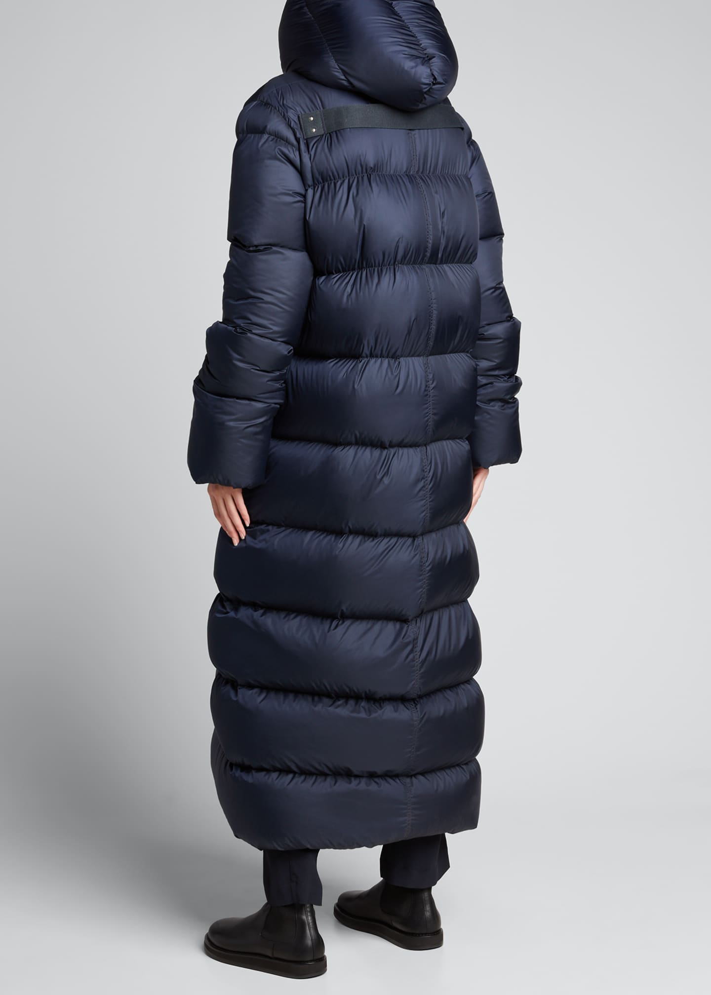 Image 2 of 5: Oversized Maxi Hooded Puffer Jacket