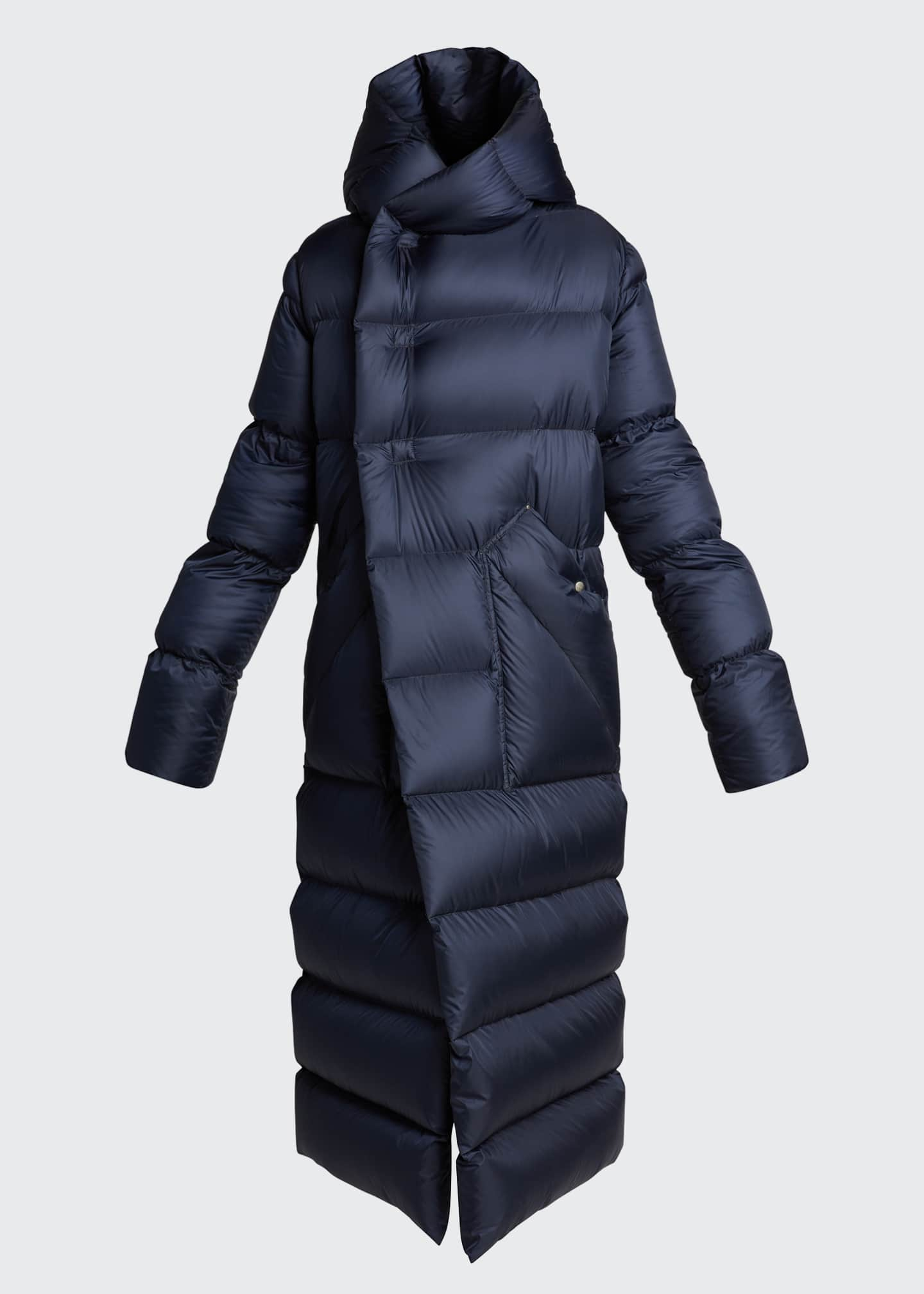 Image 5 of 5: Oversized Maxi Hooded Puffer Jacket