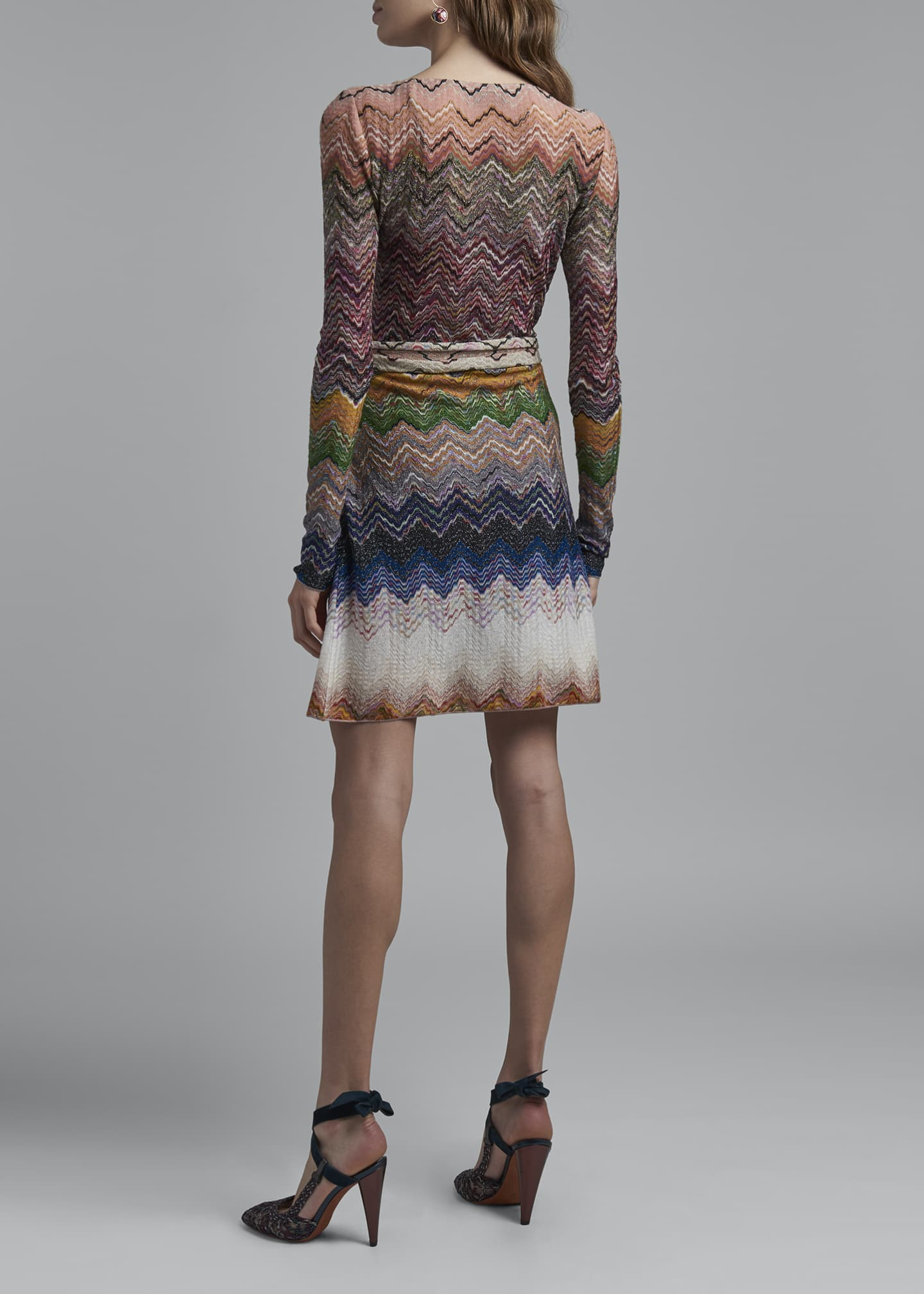 Image 2 of 4: Zigzag Tie-Neck Dress