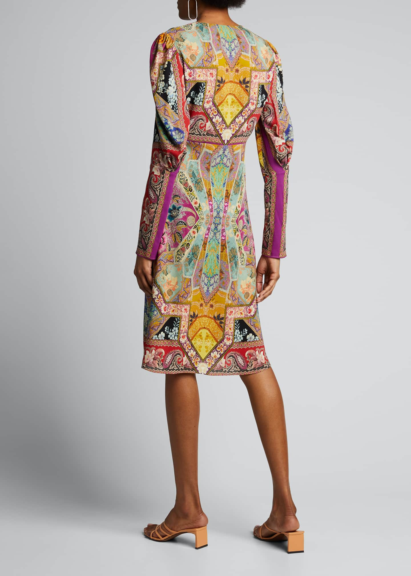 Image 2 of 5: Stained Glass-Print Jersey Dress