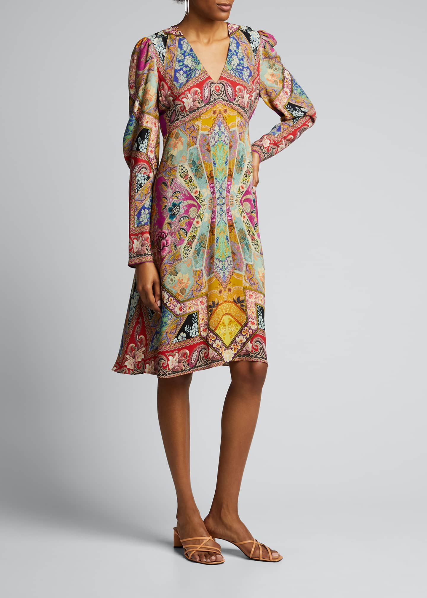 Image 3 of 5: Stained Glass-Print Jersey Dress