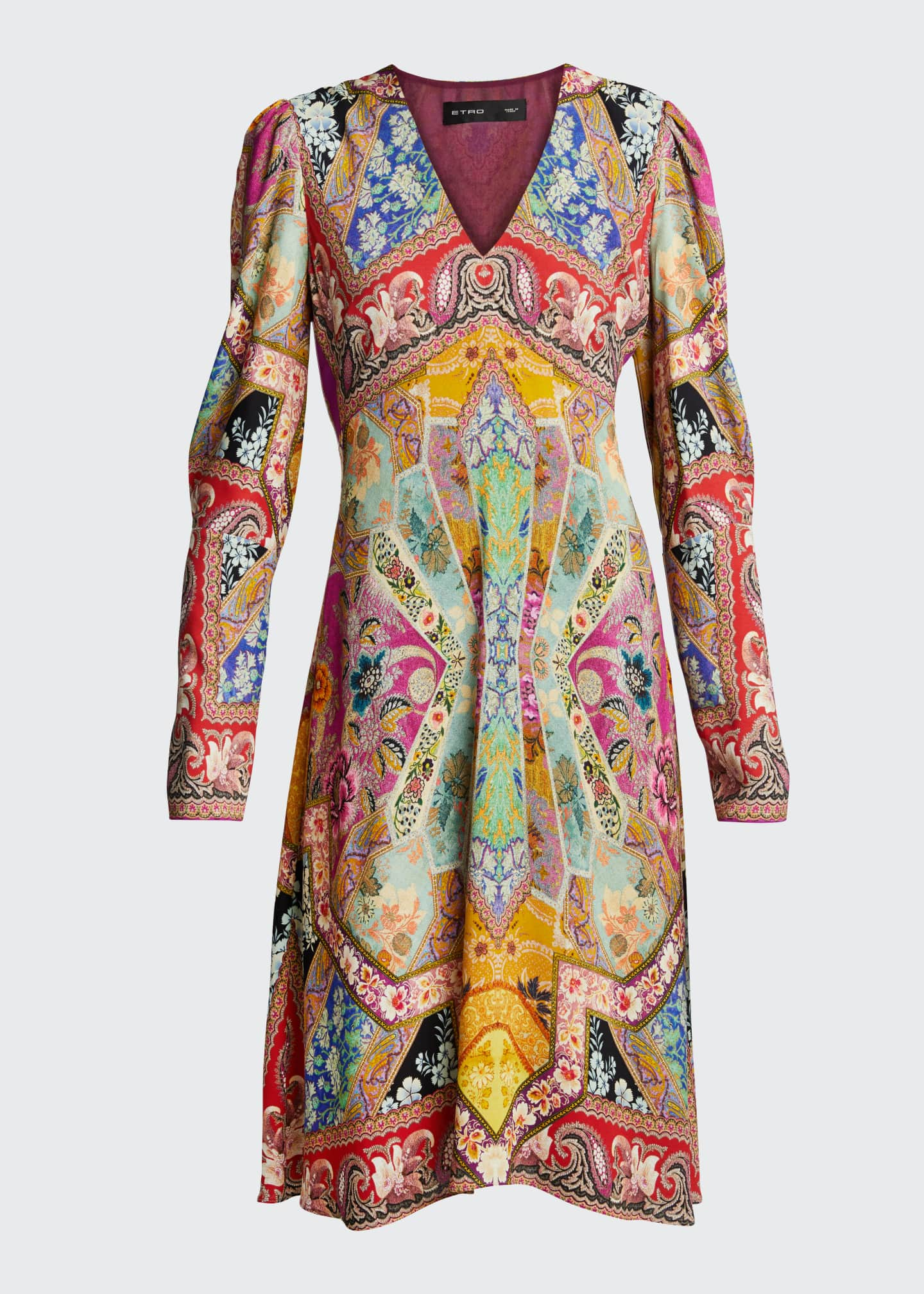 Image 5 of 5: Stained Glass-Print Jersey Dress