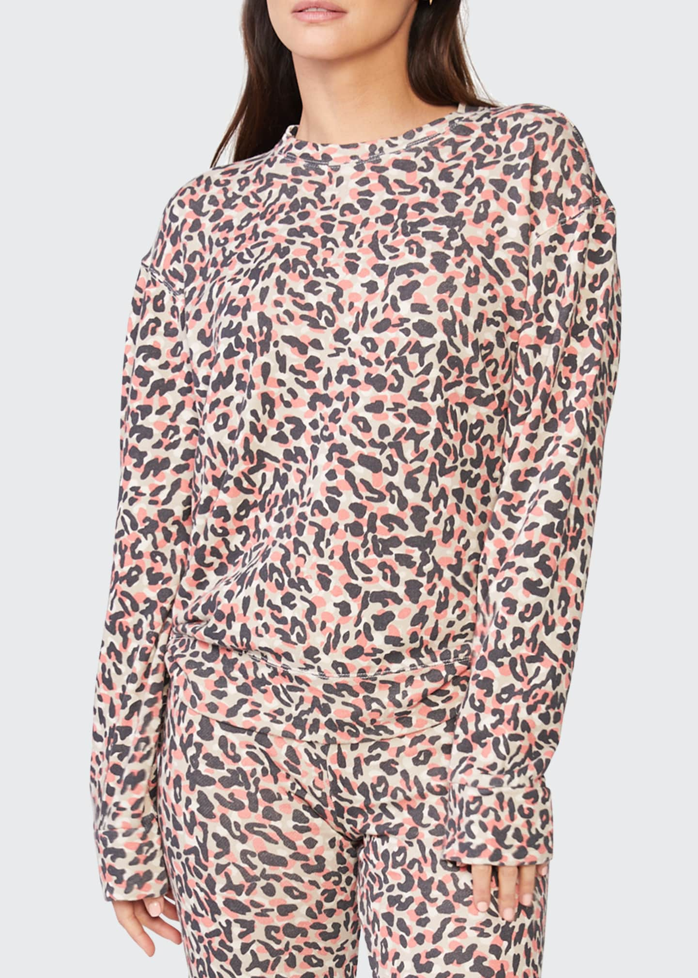 Image 1 of 4: Animal Print Boyfriend Sweatshirt