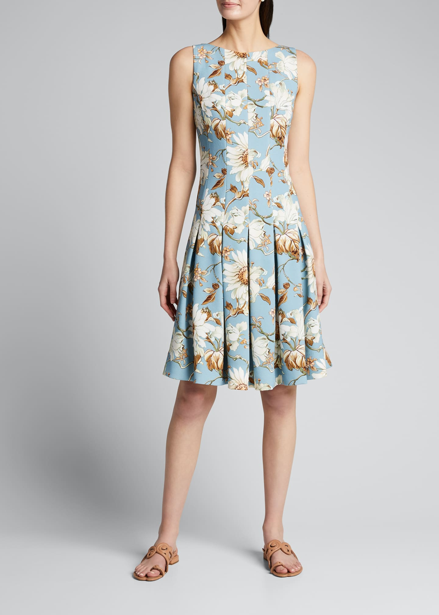 Image 3 of 5: Floral-Print Day Dress