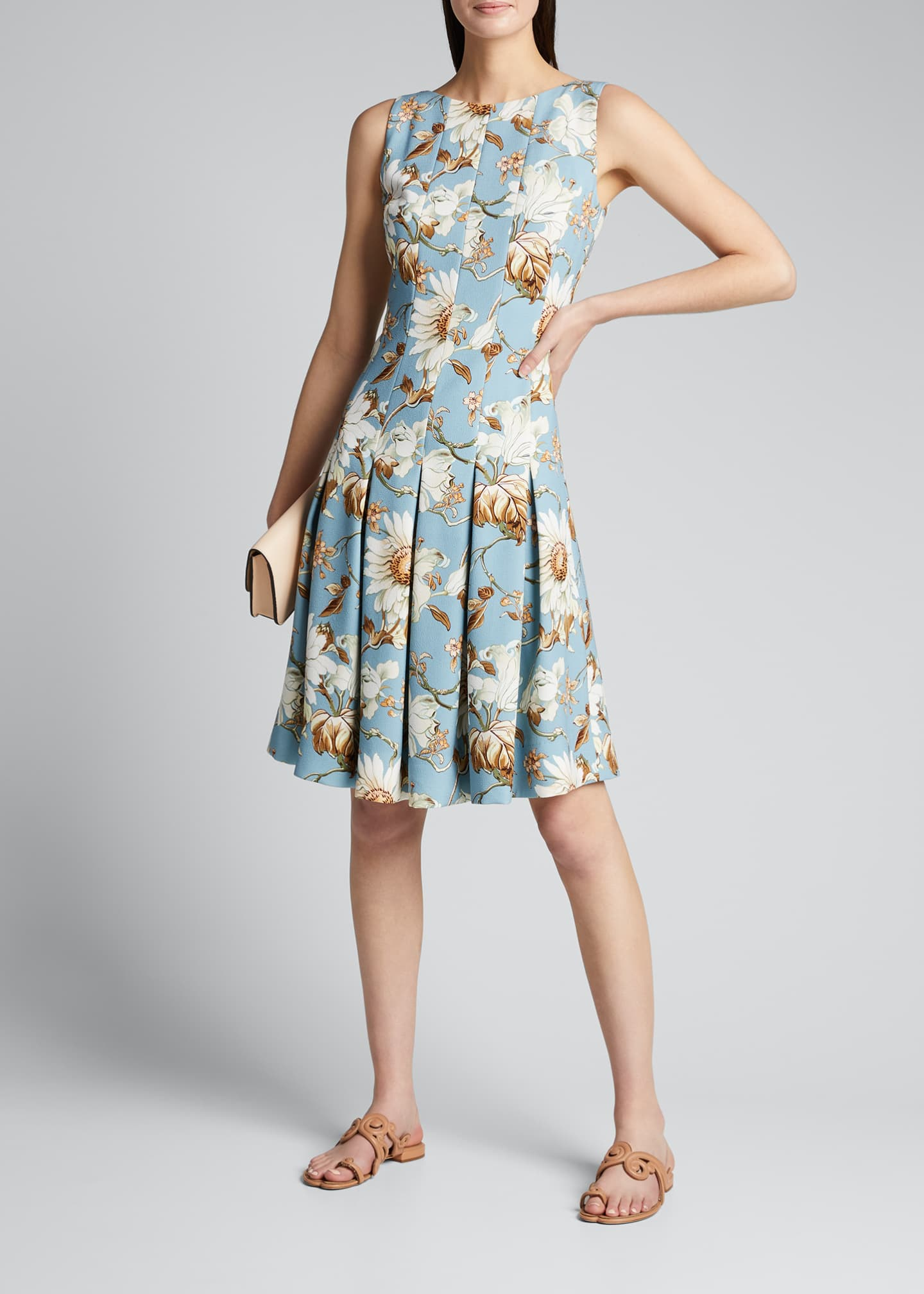 Image 1 of 5: Floral-Print Day Dress