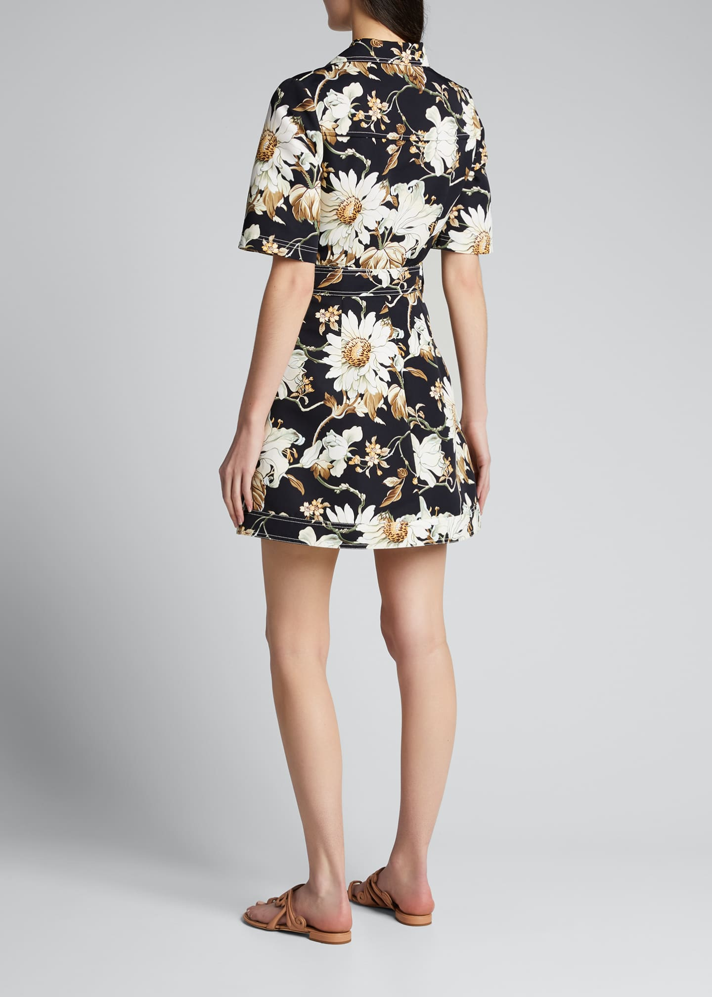 Image 2 of 4: Floral Print Cotton Day Dress