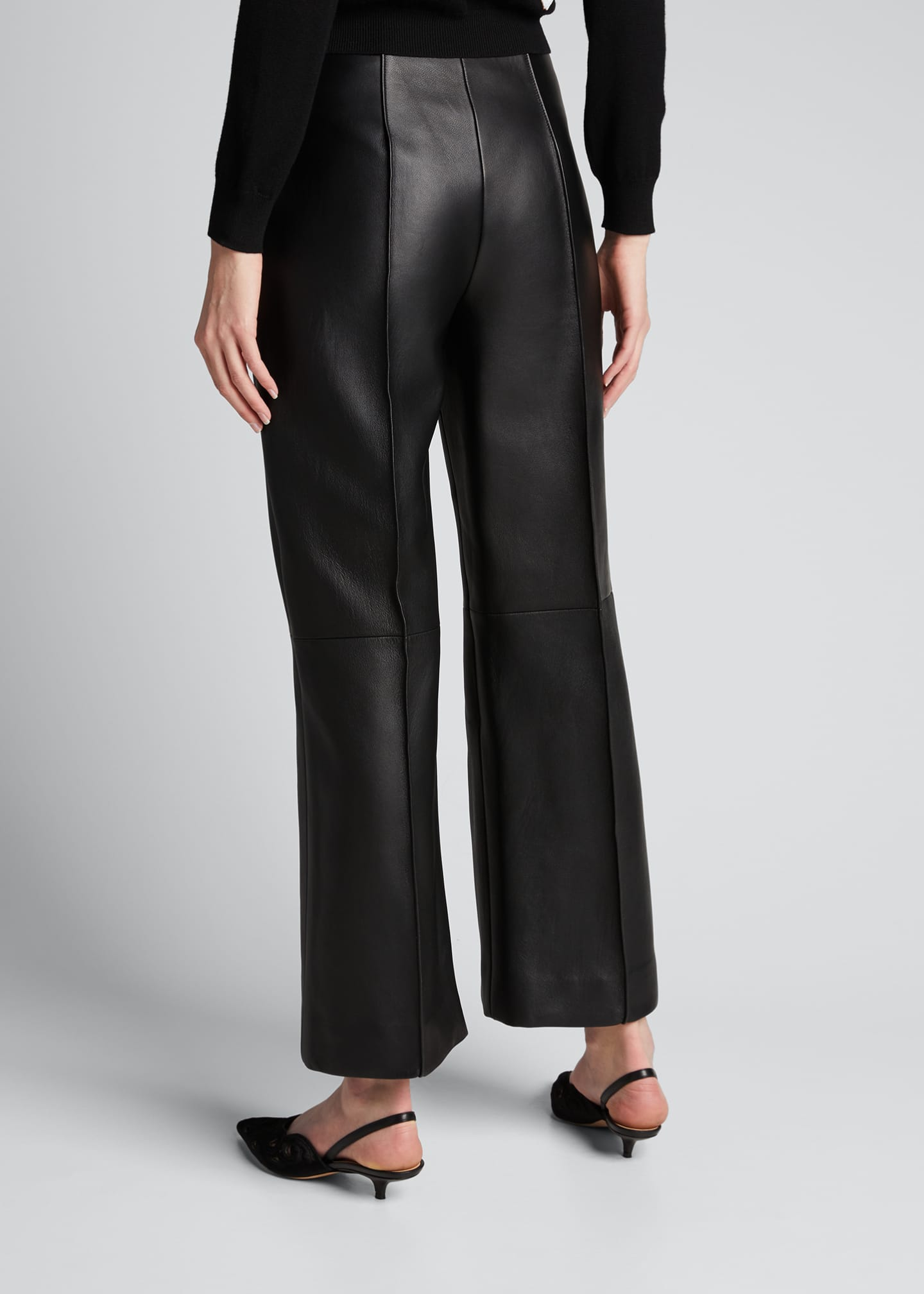 Image 2 of 5: Leather Cropped Pants