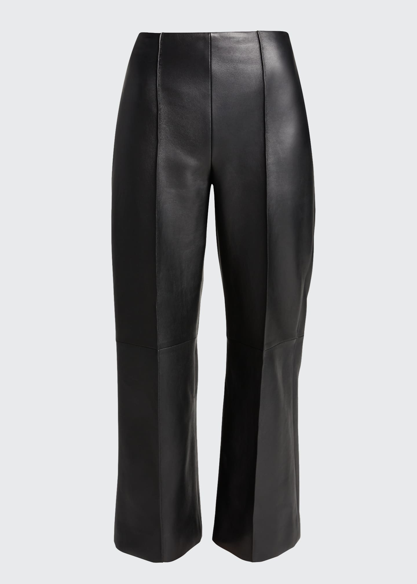 Image 5 of 5: Leather Cropped Pants
