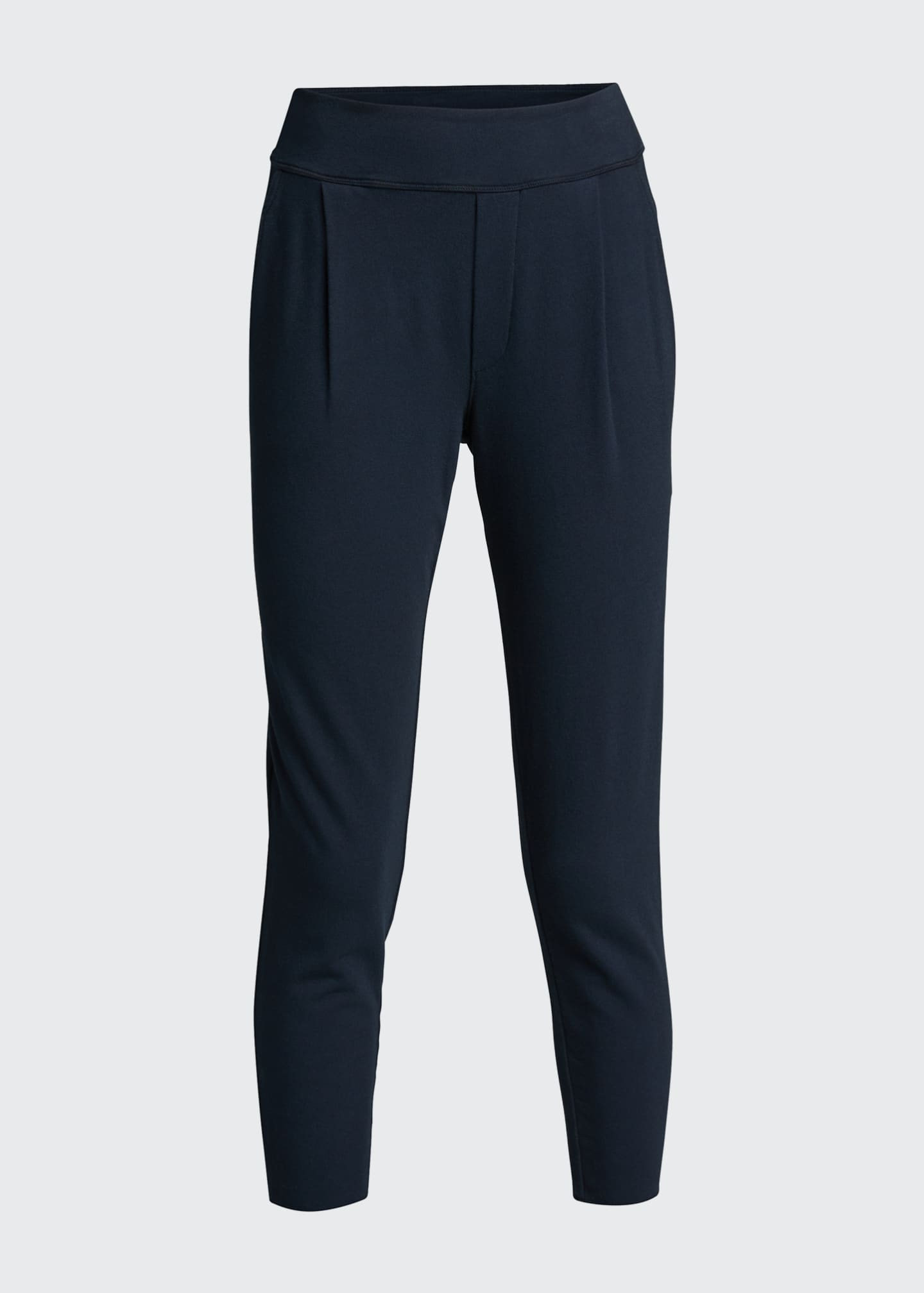 Image 5 of 5: French-Terry Pleated Jogger Pants